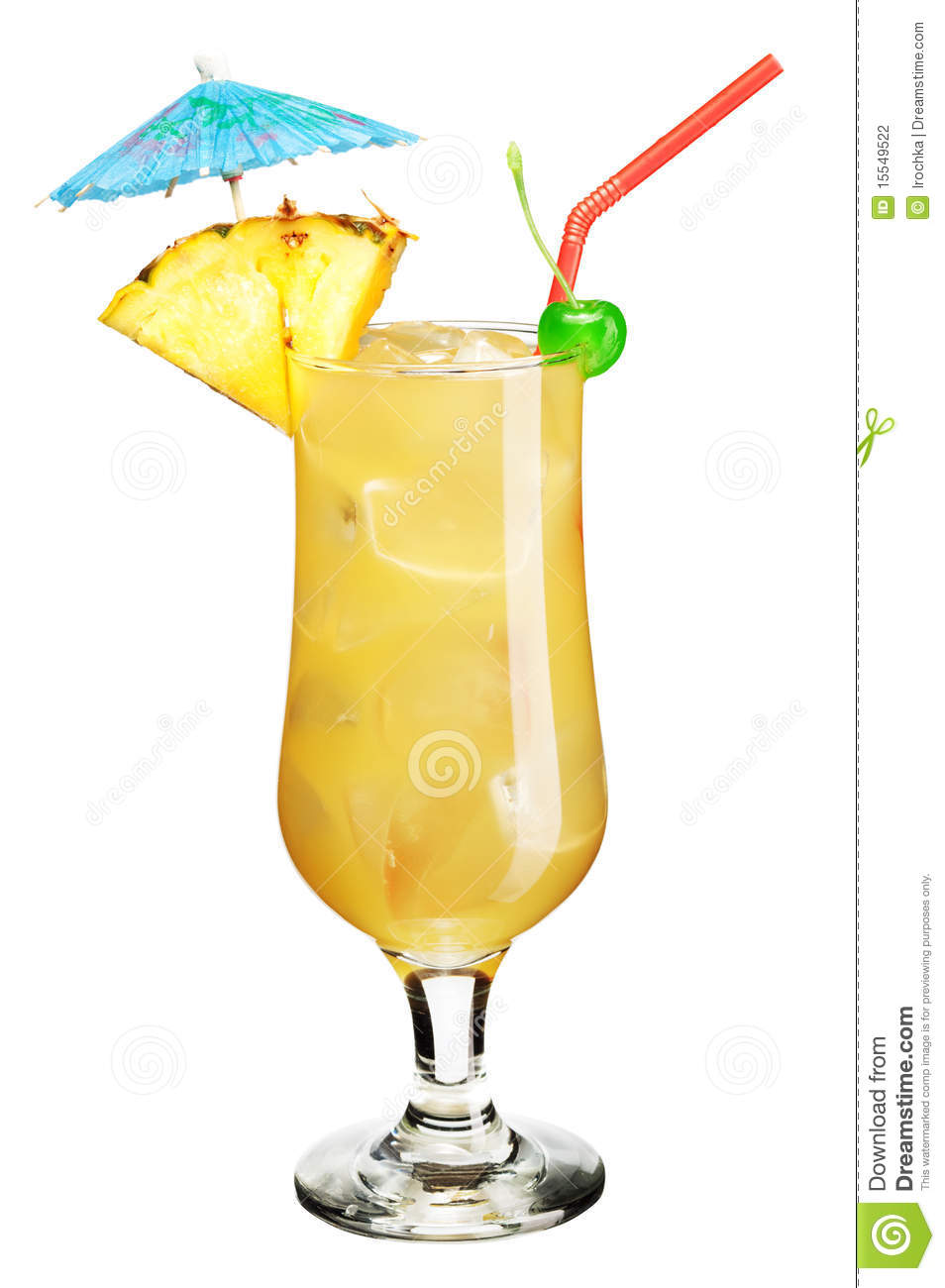 Cocktail With Umbrella Stock Photography Image 15549522