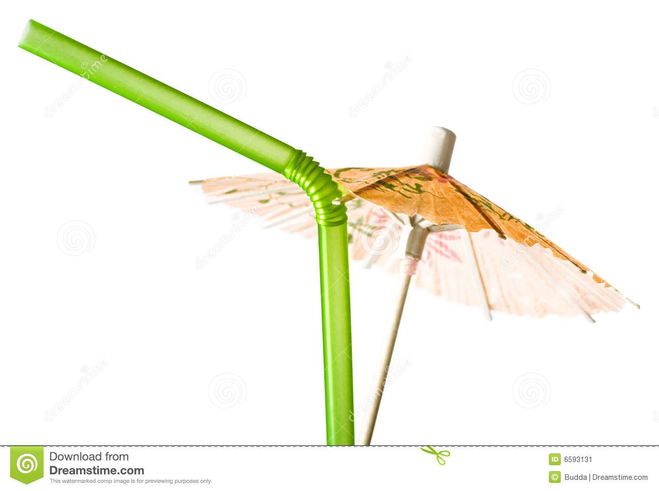Cocktail Umbrella and Drinking Straw