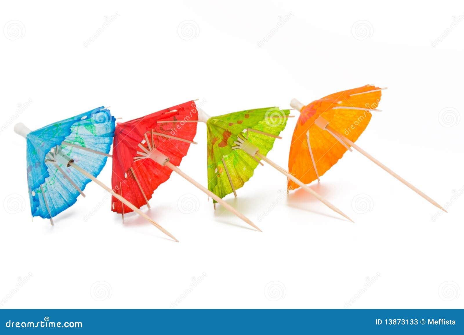 cocktail umbrellas stock photos image 13873133