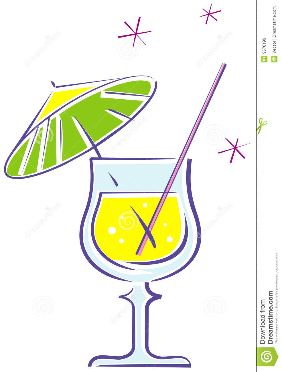 Cocktail (Vector) Royalty Free Stock Images - Image: 9576199