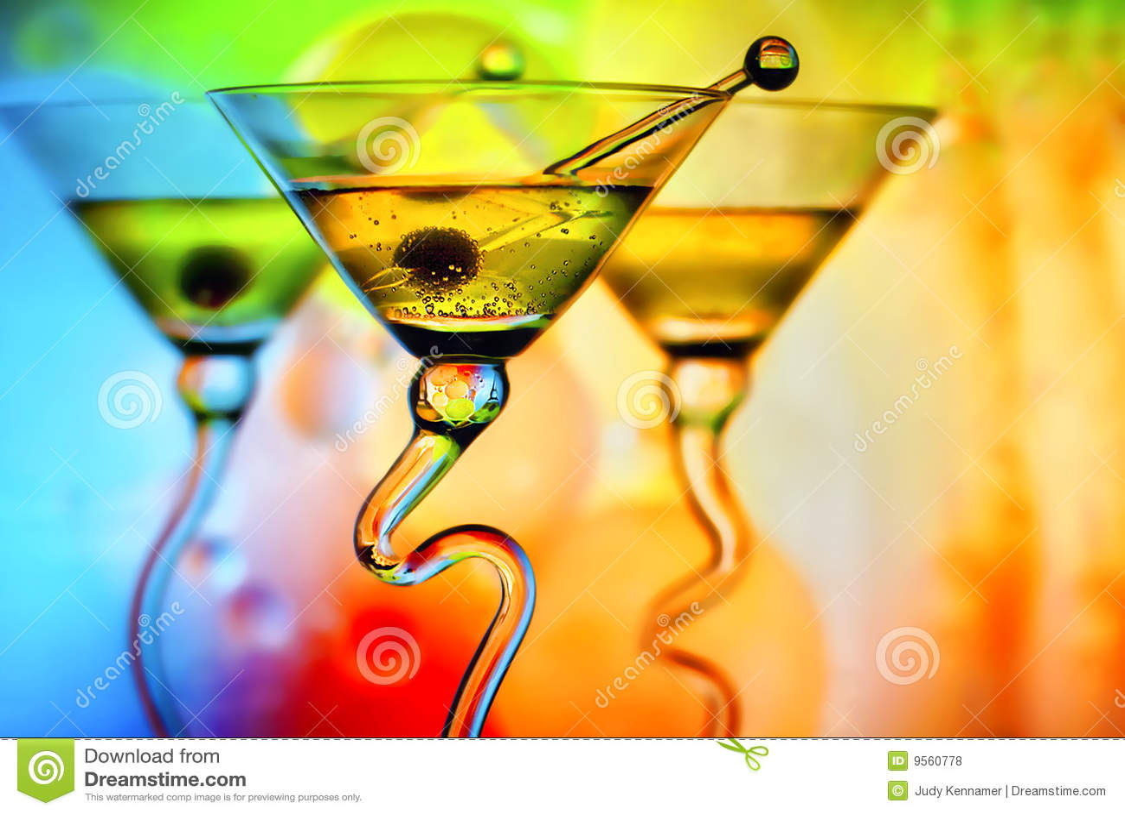 Cocktails colorés