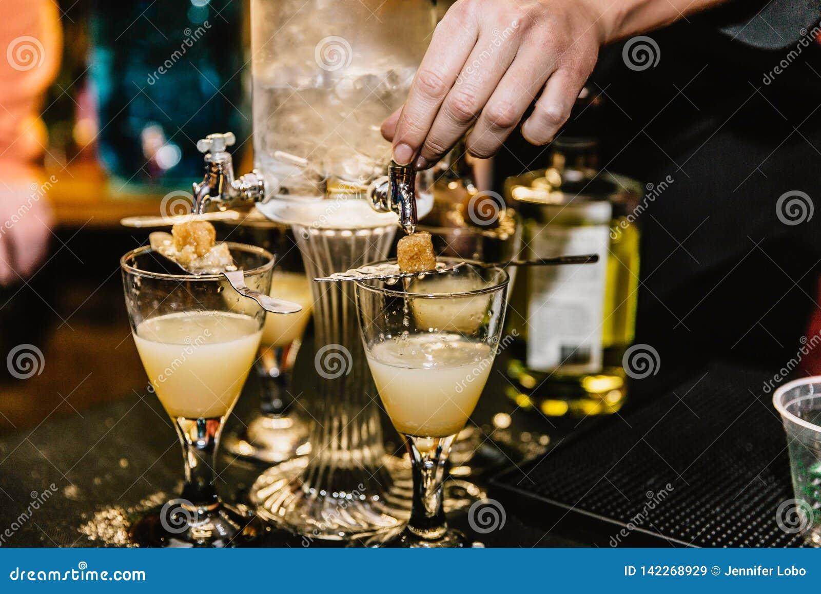 Cocktails de mélange à un événement
