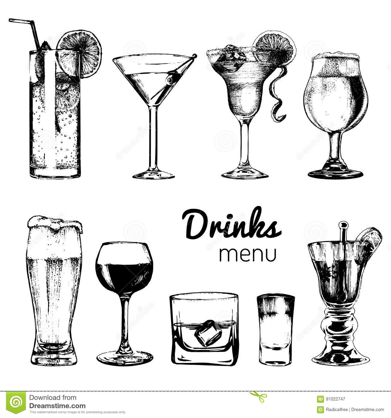 Cocktails and Drink Glasses