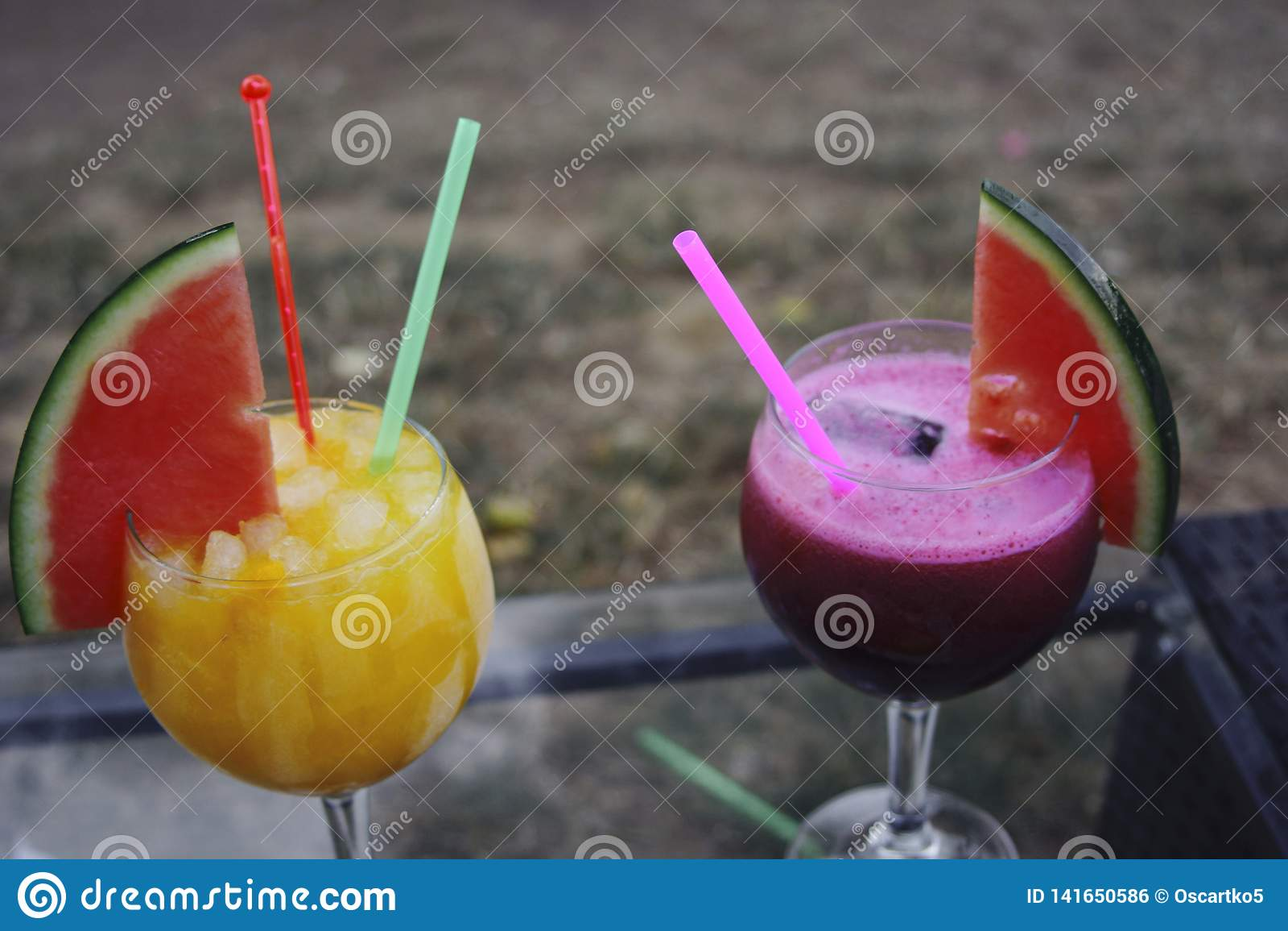 Cocktails in summer