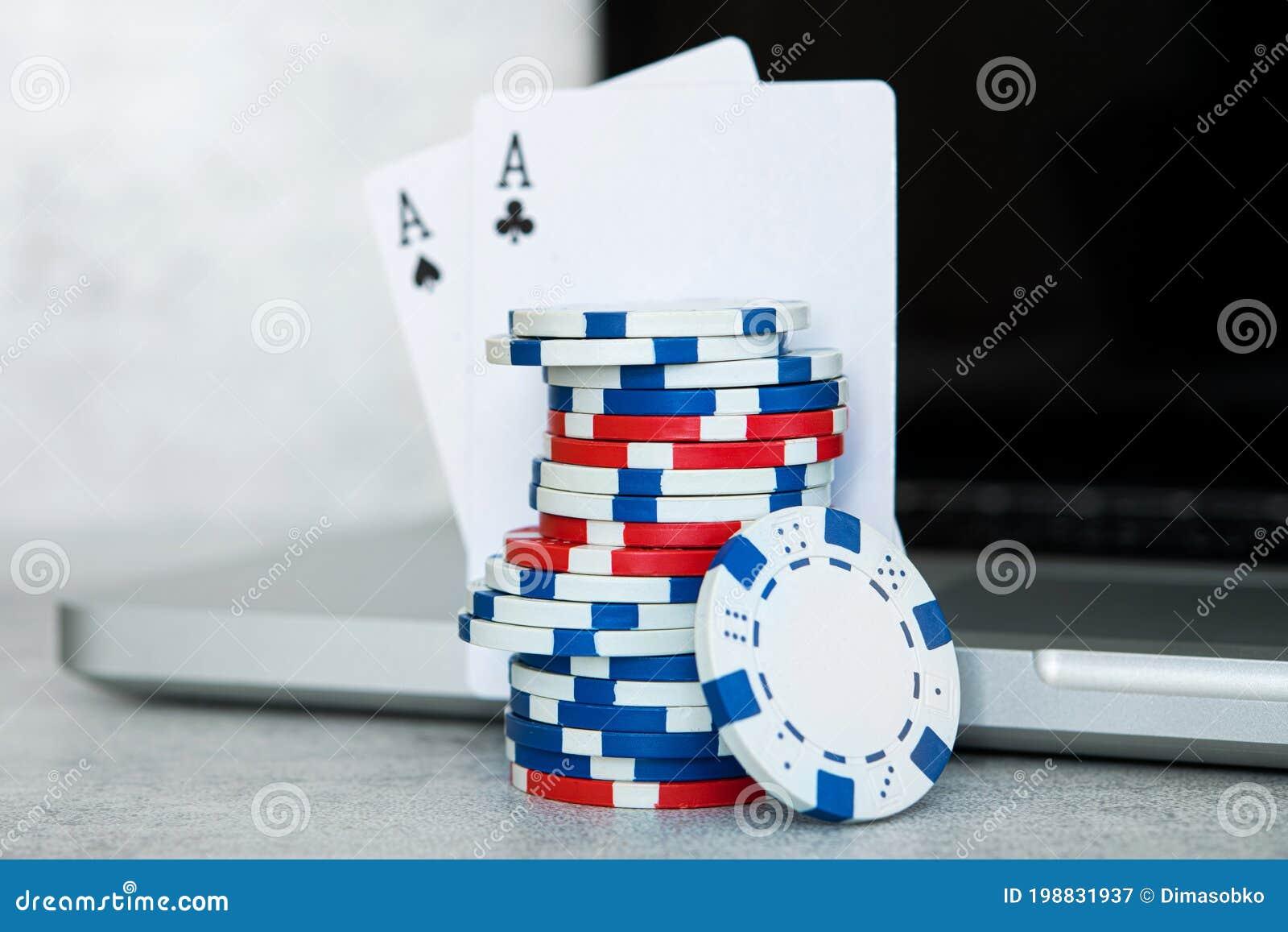Cocnept Of Poker Online Games Stock Image Image Of Online Hands 198831937