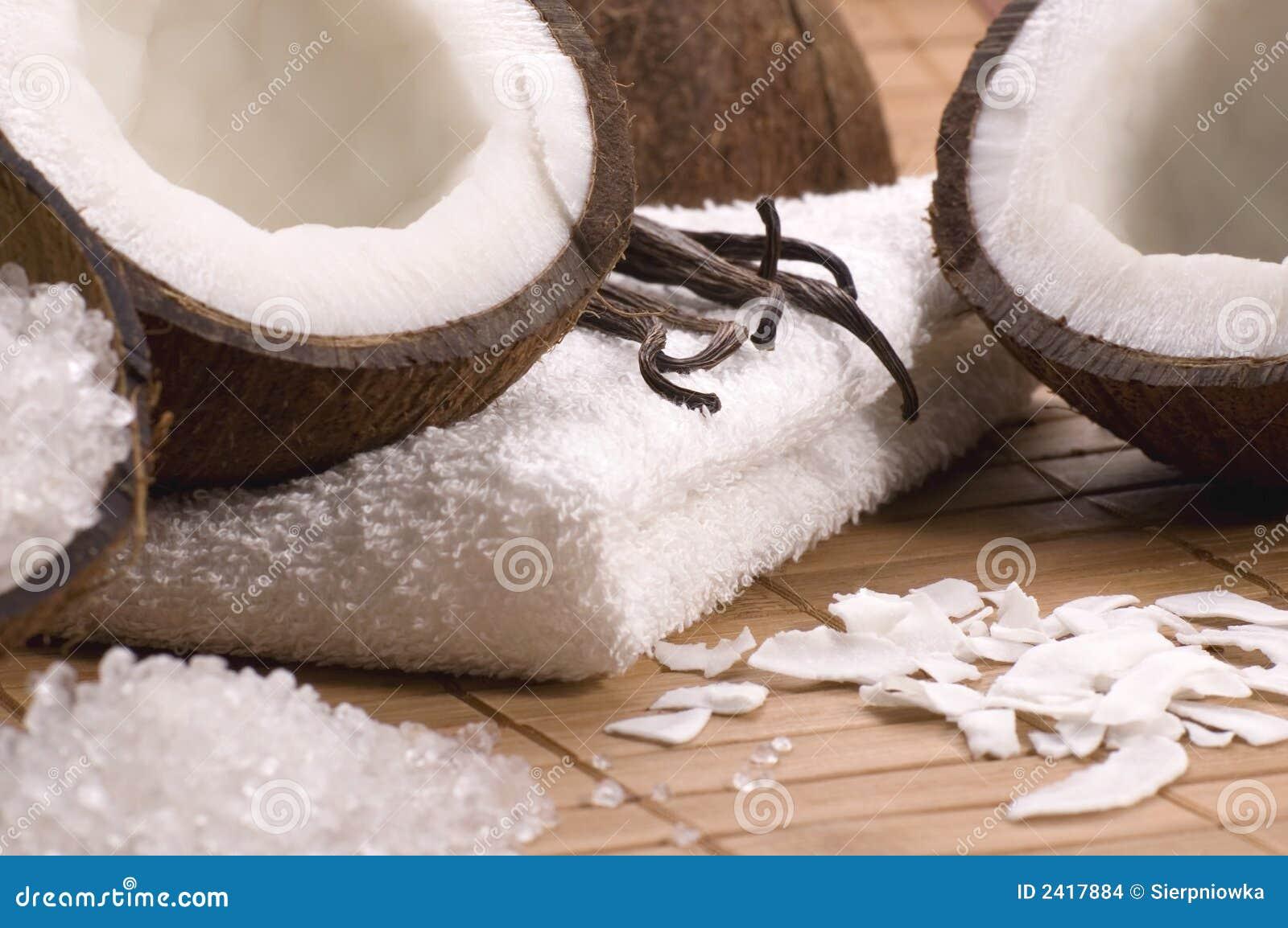 Coco and vanilla bath