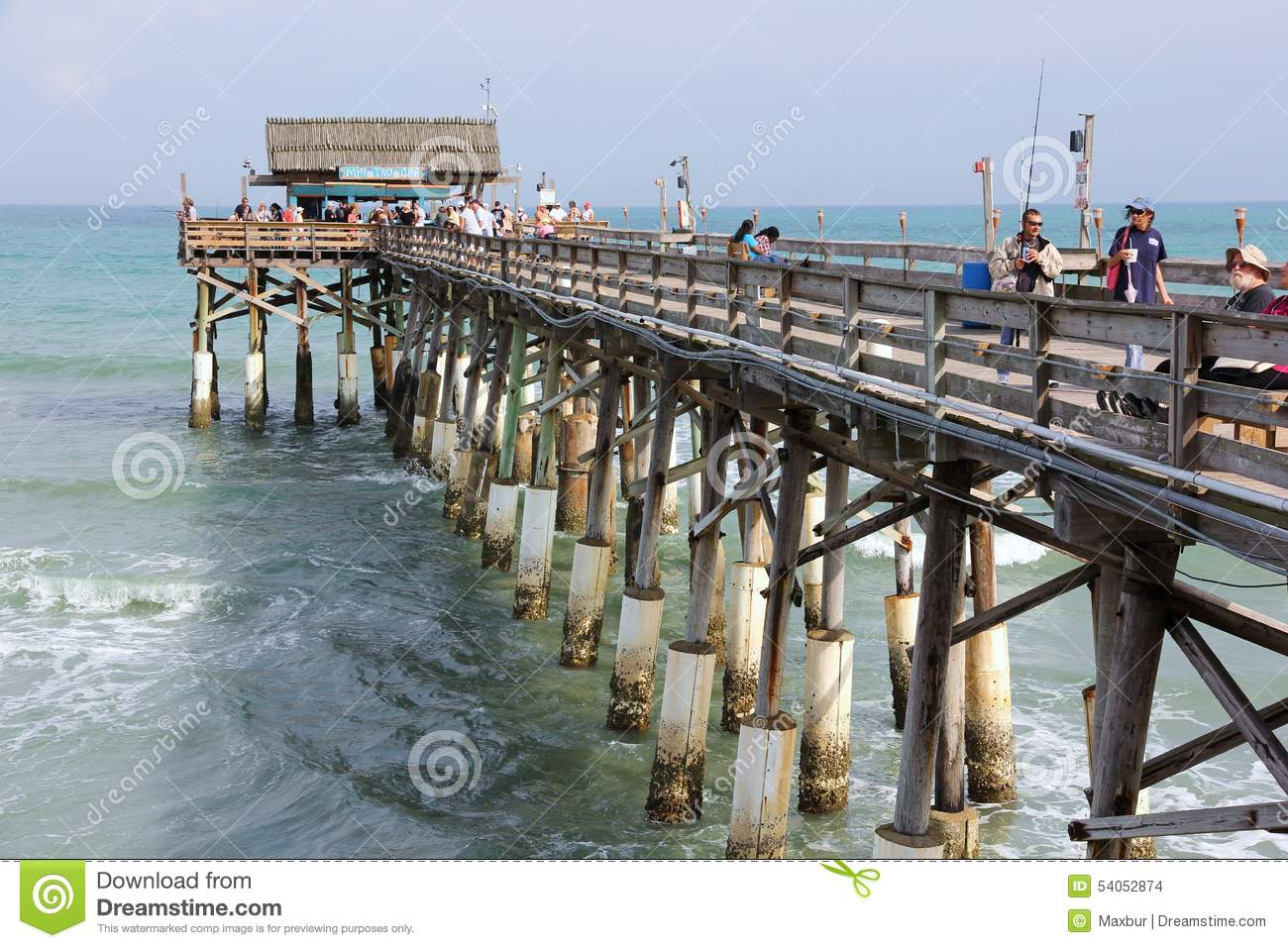 cocoa beach fishing pier editorial stock image image