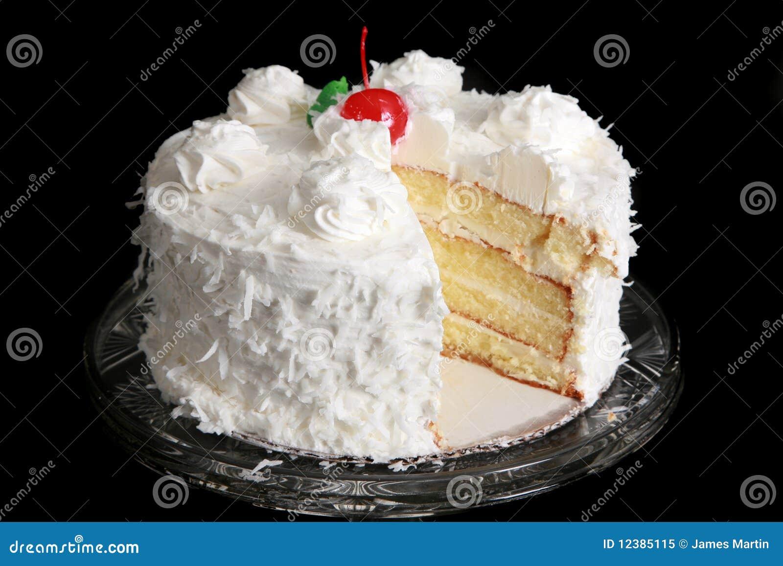 Coconut Cake Stock Image Image Of Swirls Frosting