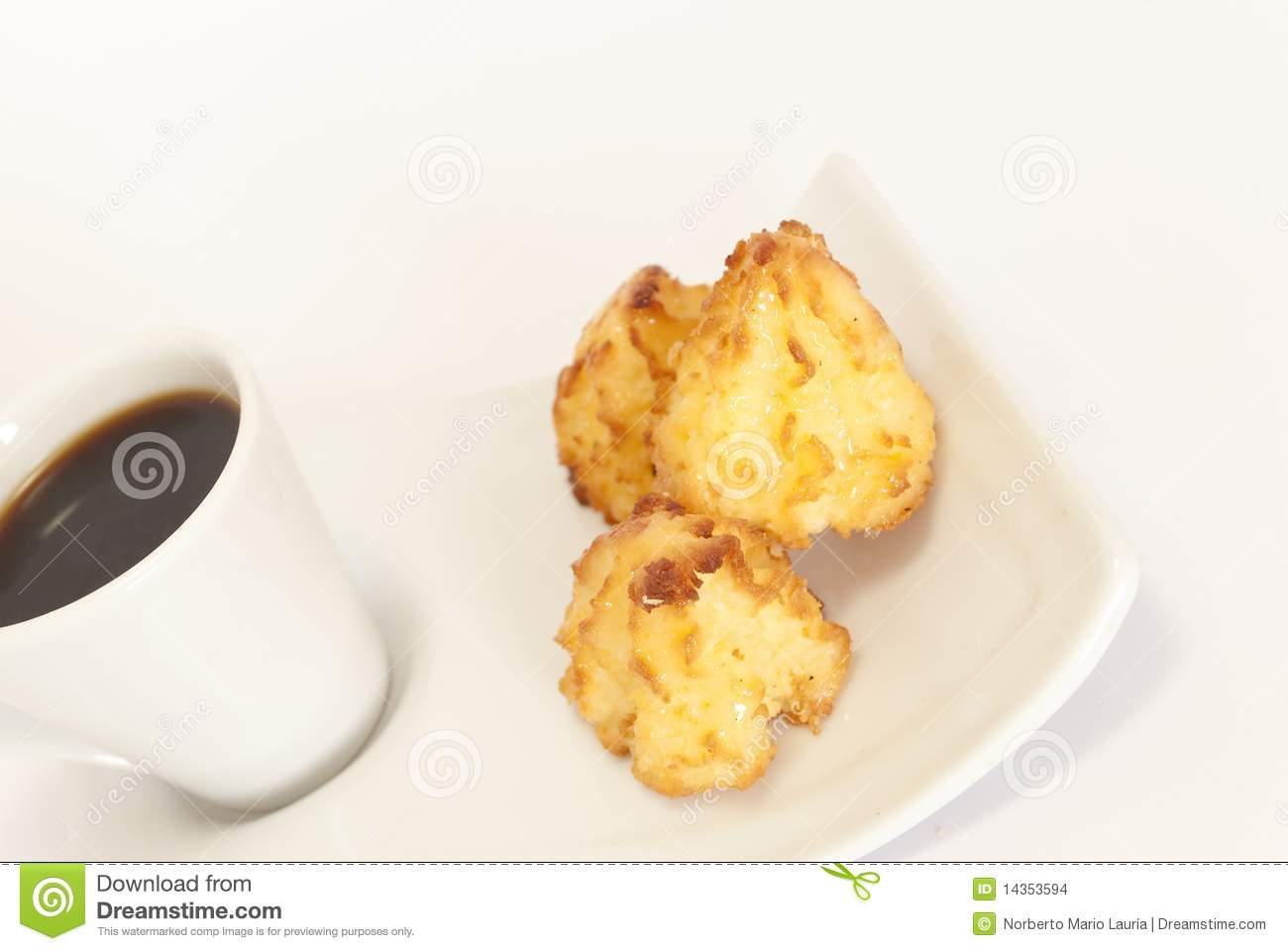 Coconut Coffee With Biscuits Stock Images - Image: 14353594