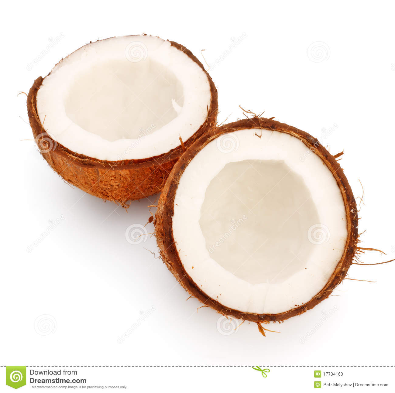 Coconut halves stock photo. Image of halves, tropic, food ...