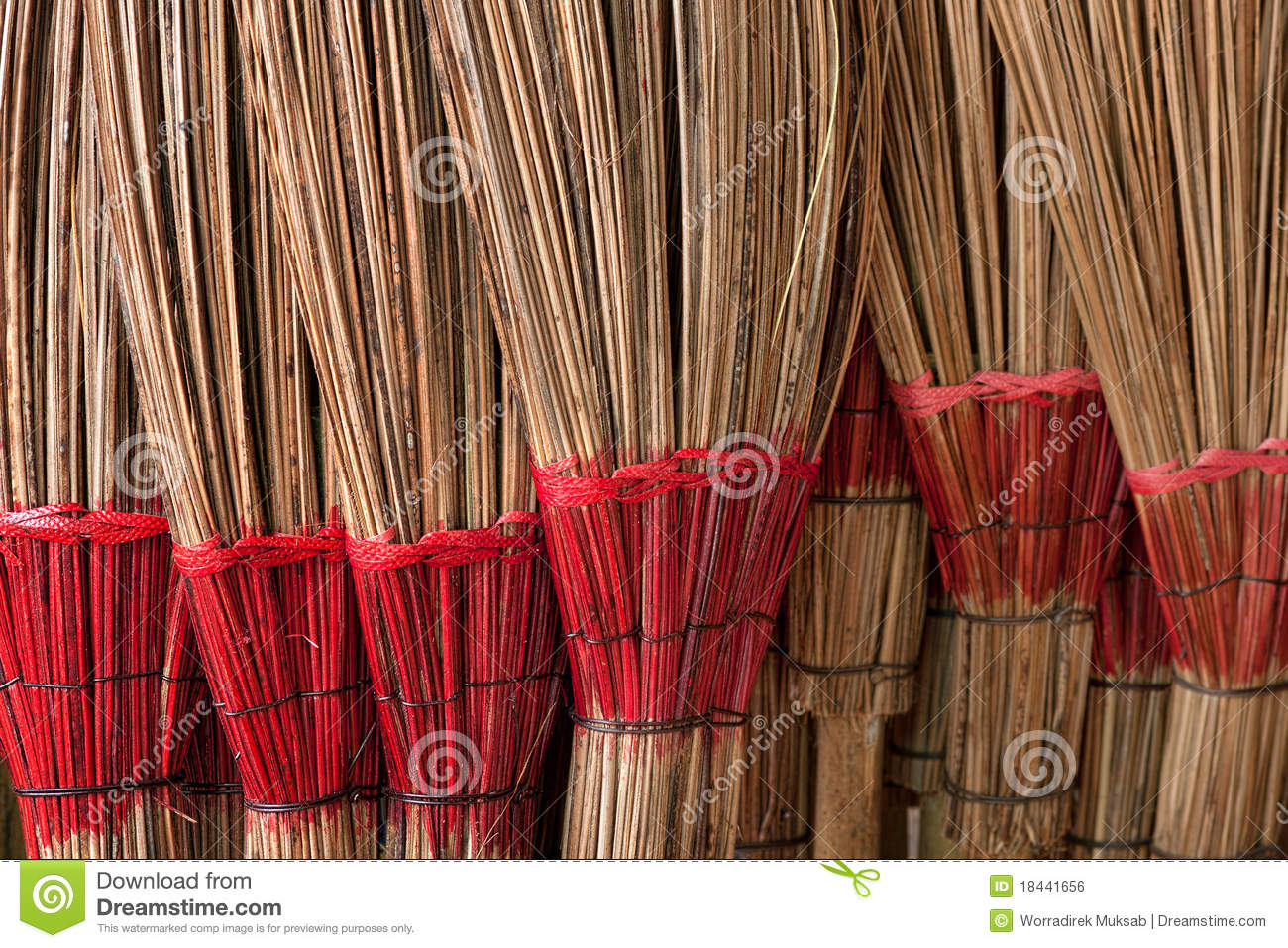 Coconut Leaf Broom Royalty Free Stock Image Image 18441656