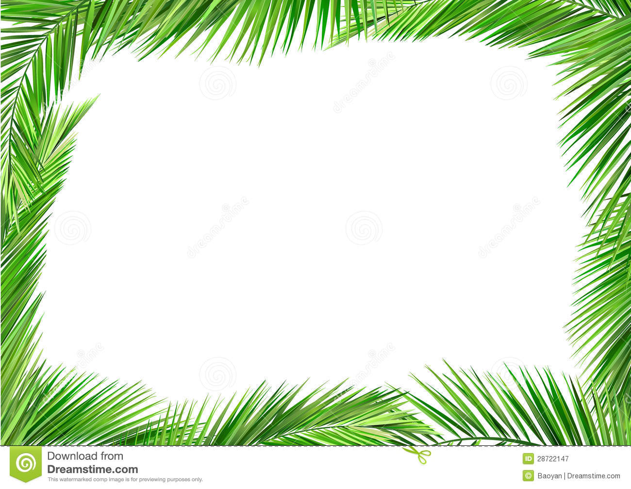Coconut Leaves Frame Royalty Free Stock Photography ...