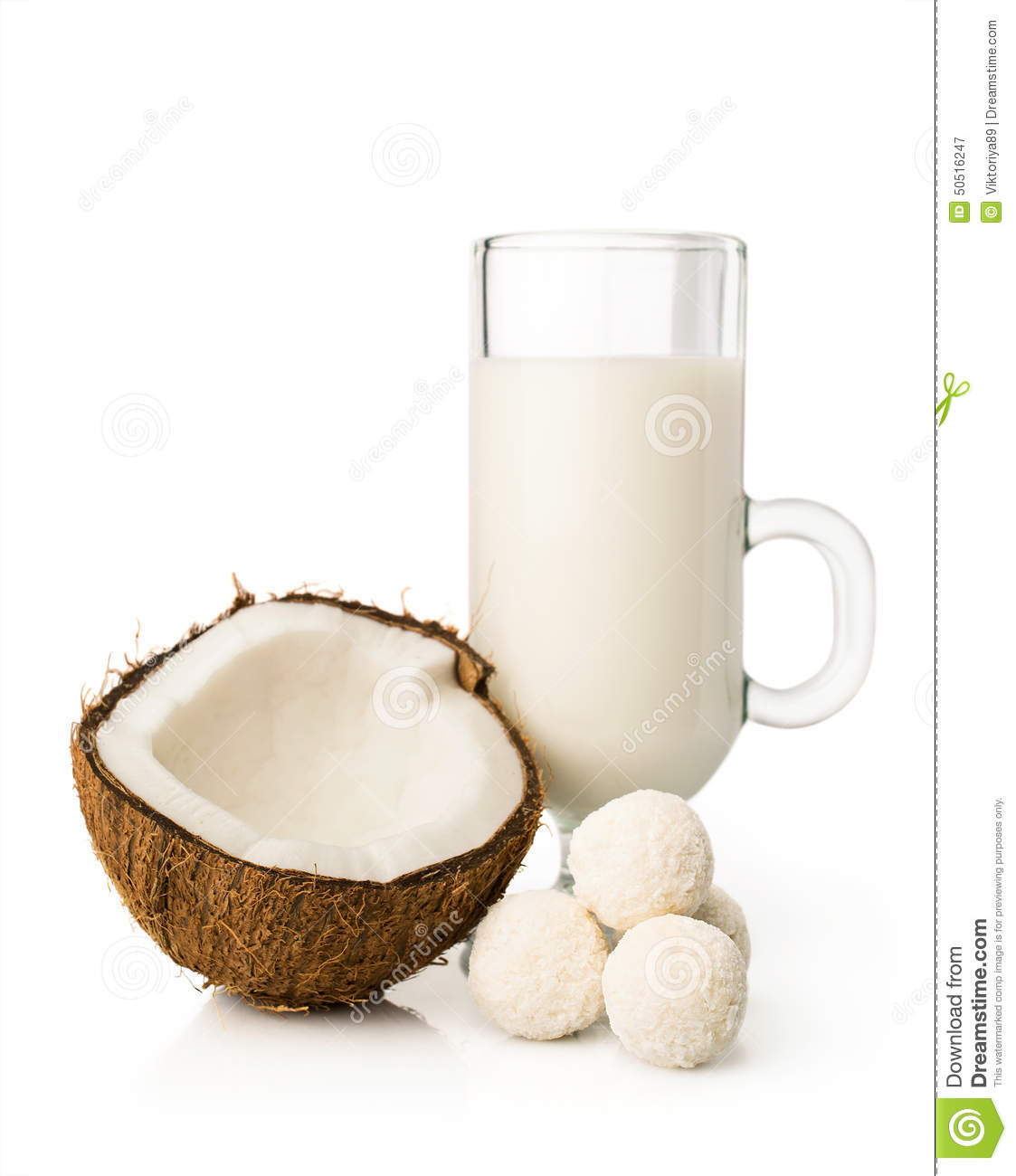Coconut milk and candy