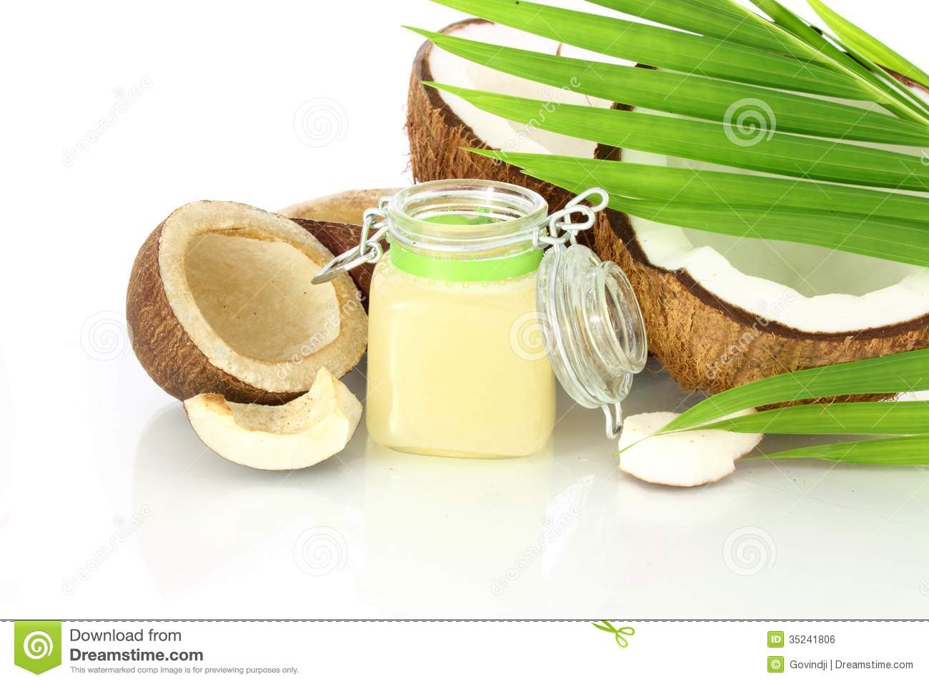 Coconut oil with coconut royalty free stock image image 35241806