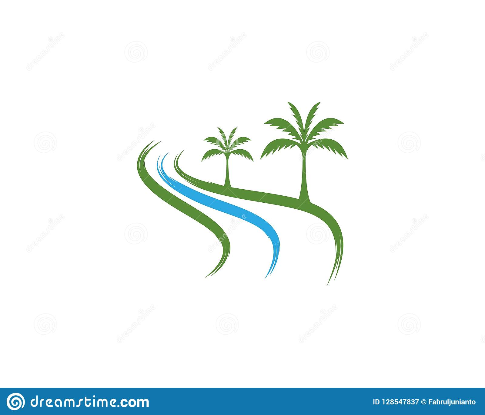 coconut tree icon logo vector template stock vector illustration