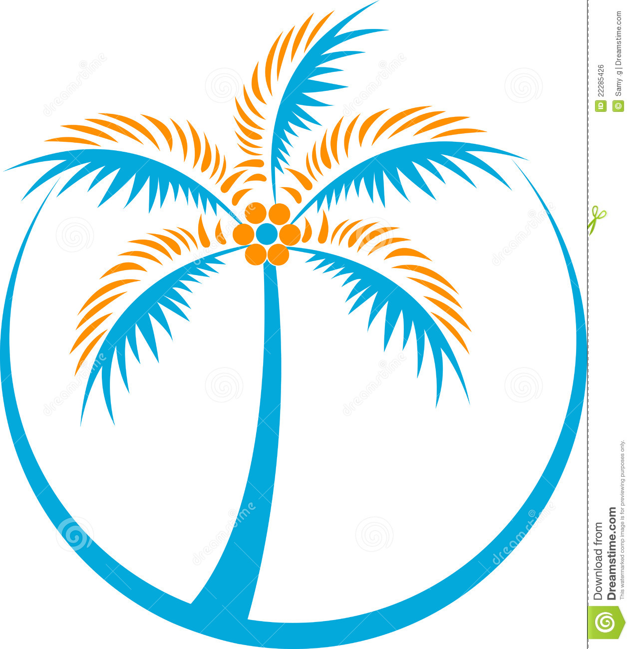 Royalty Free Stock Image Coconut Tree Logo Image22285426 on Collage Tree