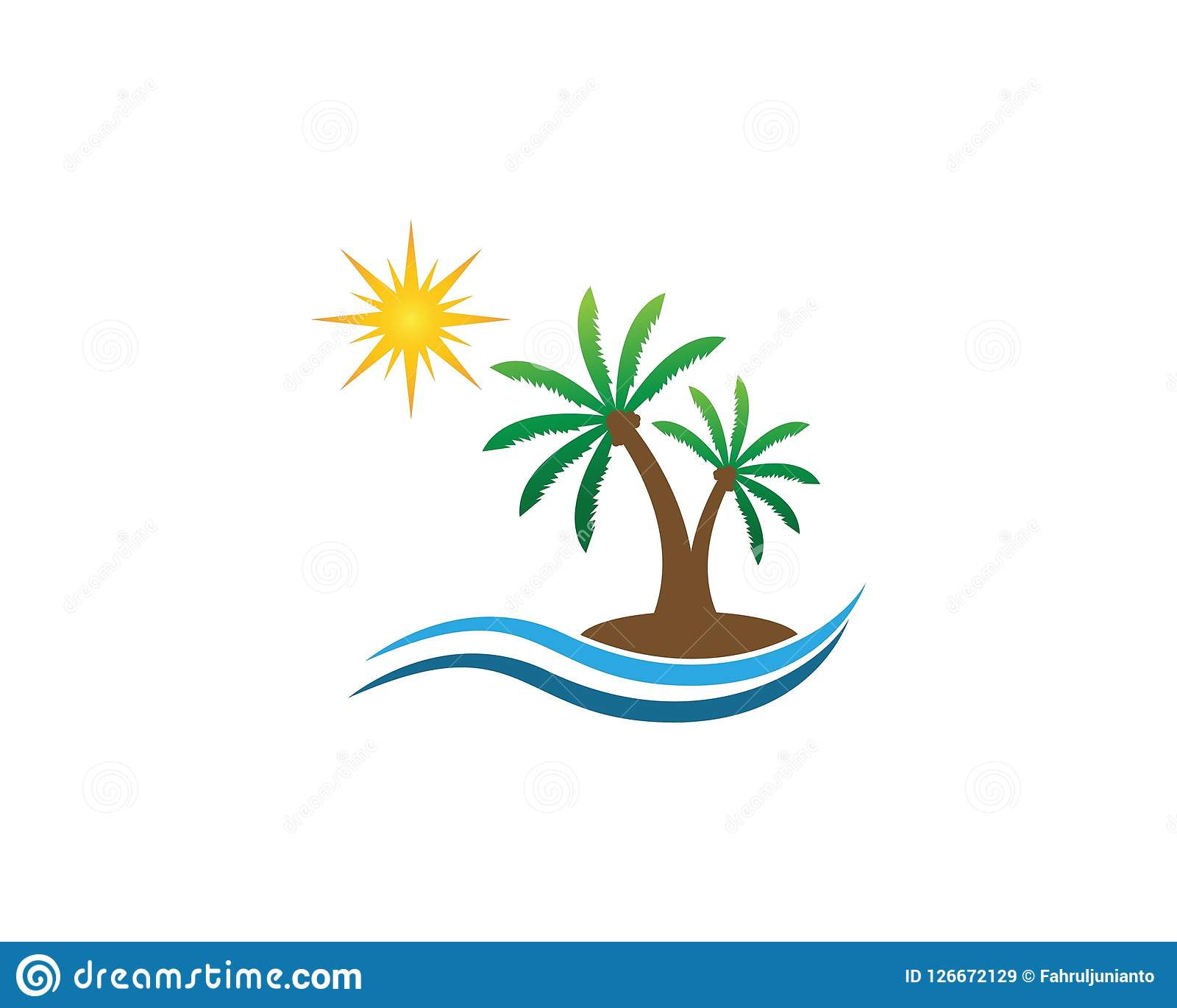 coconut tree logo design template stock vector illustration of