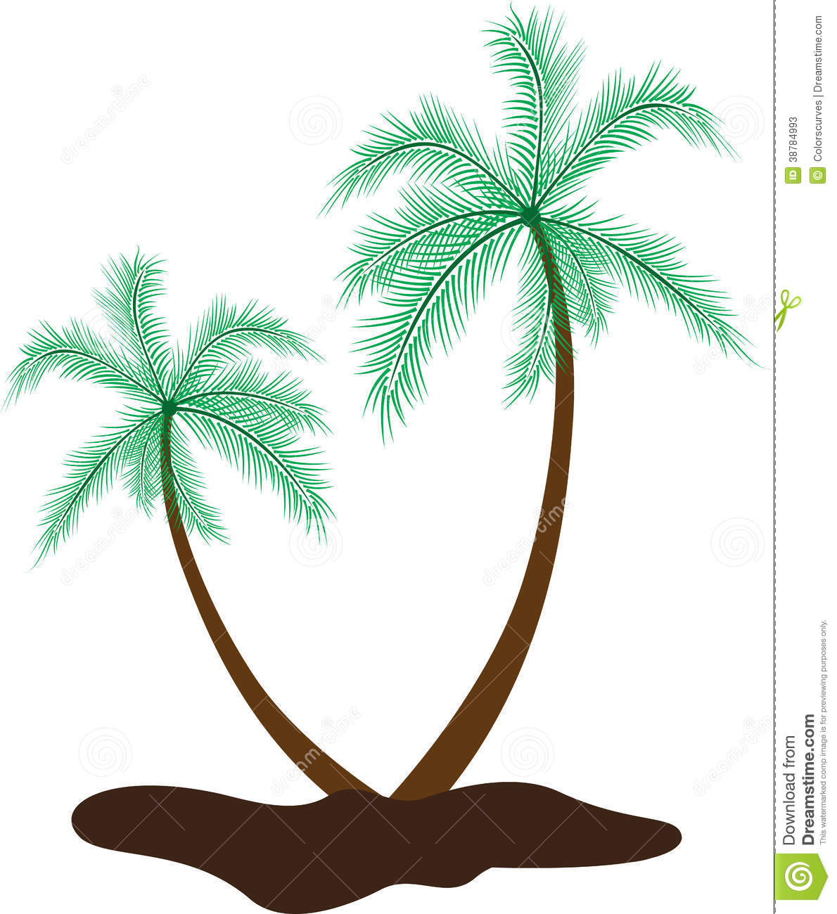Coconut tree stock vector. Illustration of island, green ...
