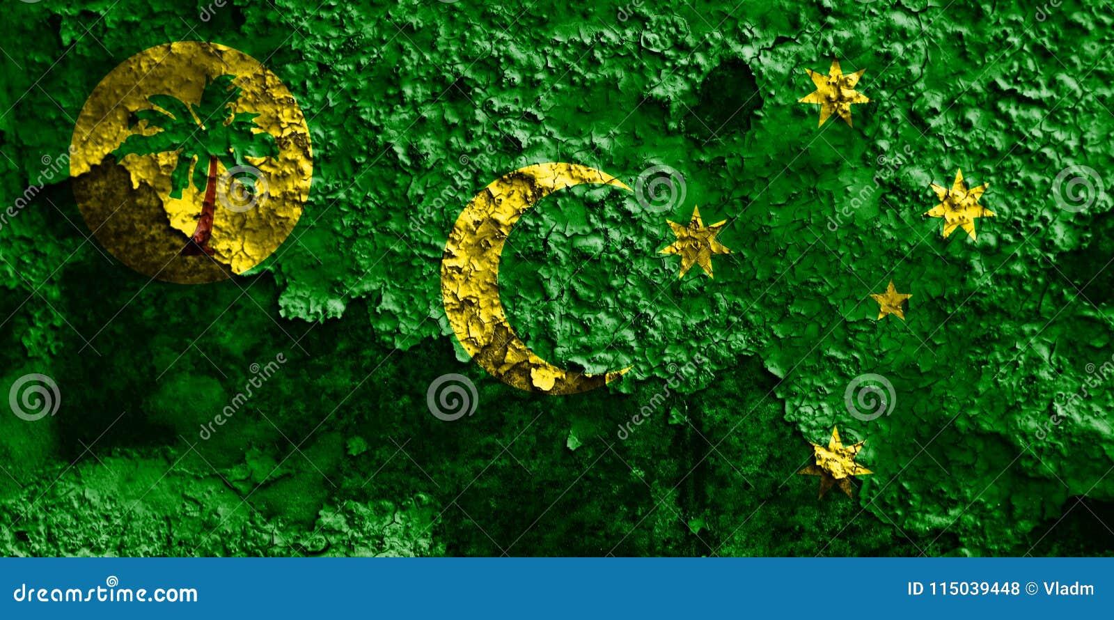 Cocos flagga för Keeling ögrunge, Australien anhörigterritor