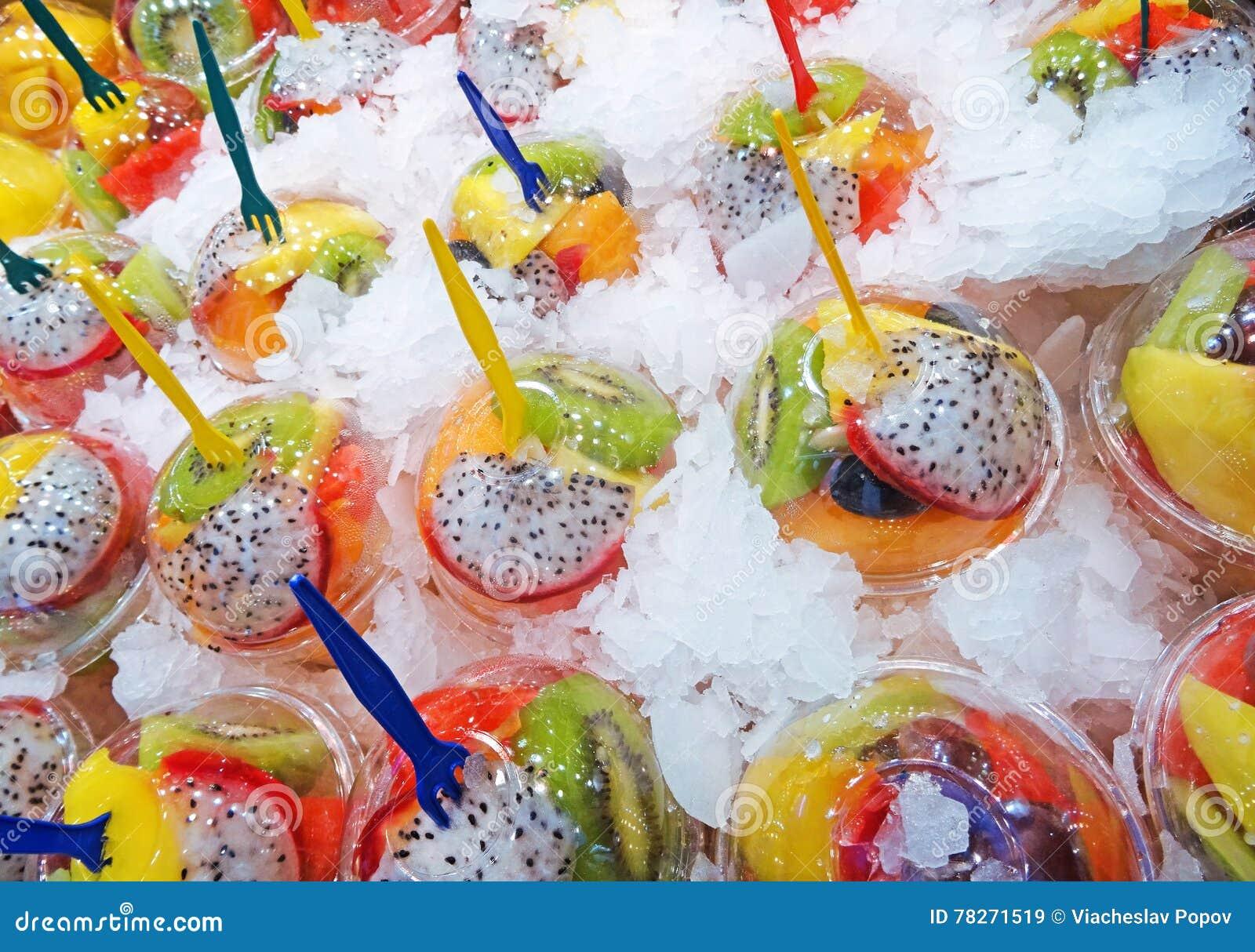 Coctails de fruit de boissons de secousse