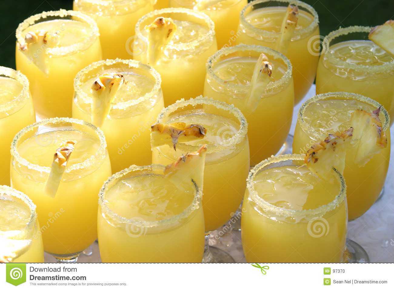 Coctails do abacaxi