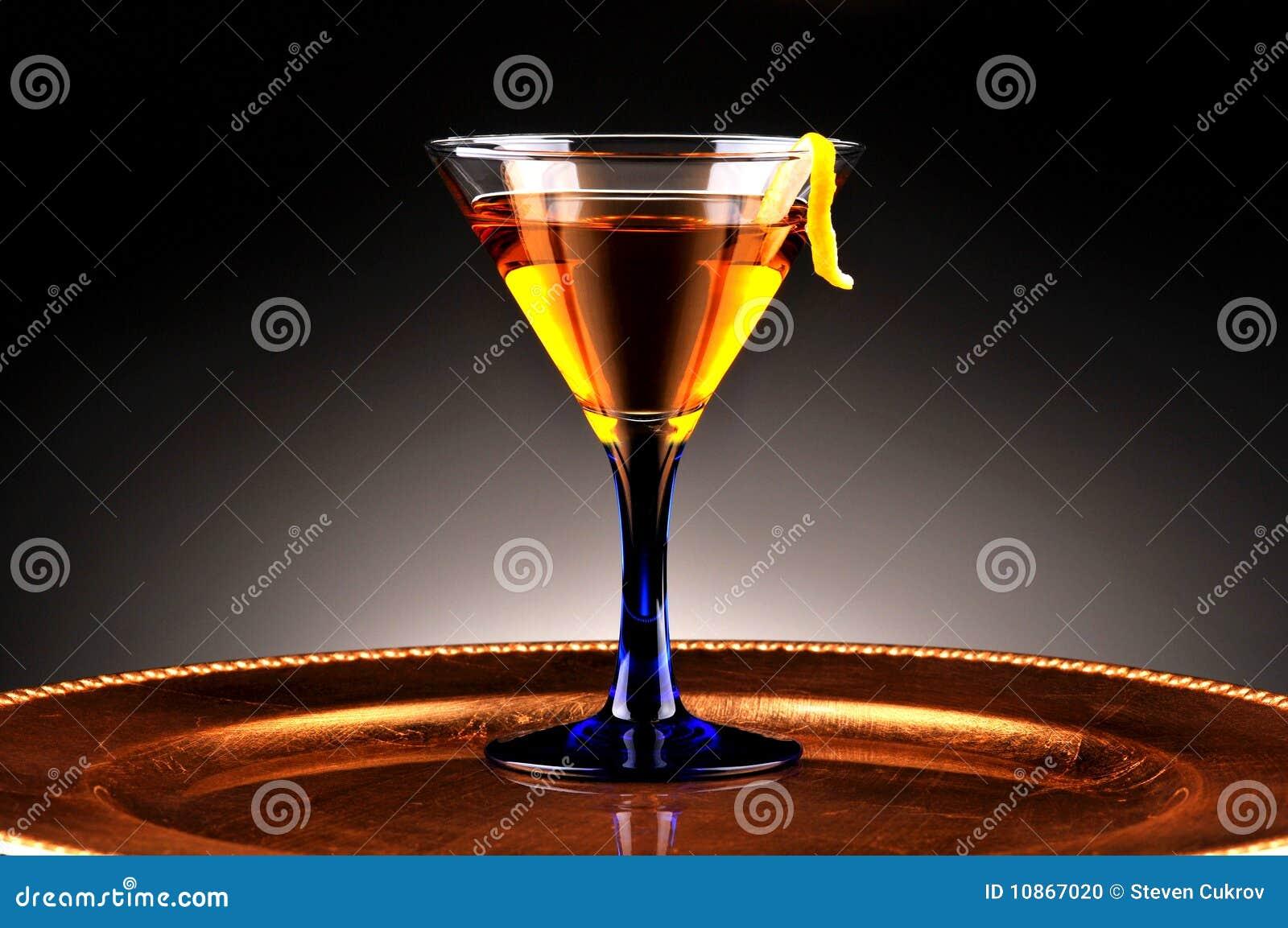 Coctel del whisky en el disco del oro