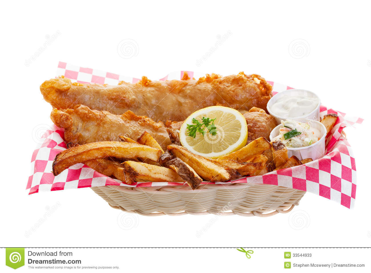 Cod And Chips Stock Photos - Image: 33544933