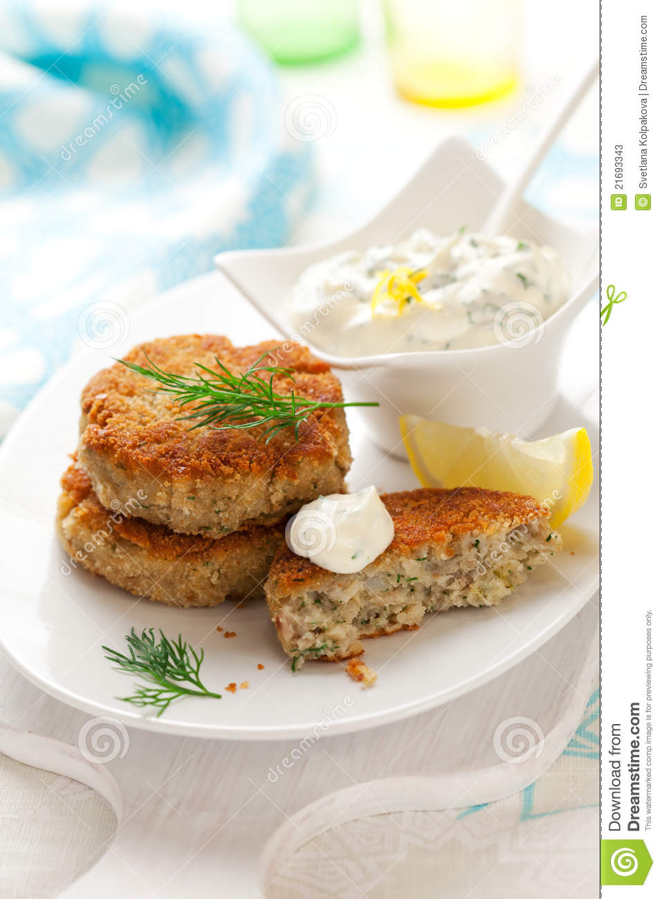 Cod Fish Cakes Stock Photos Image 21693343