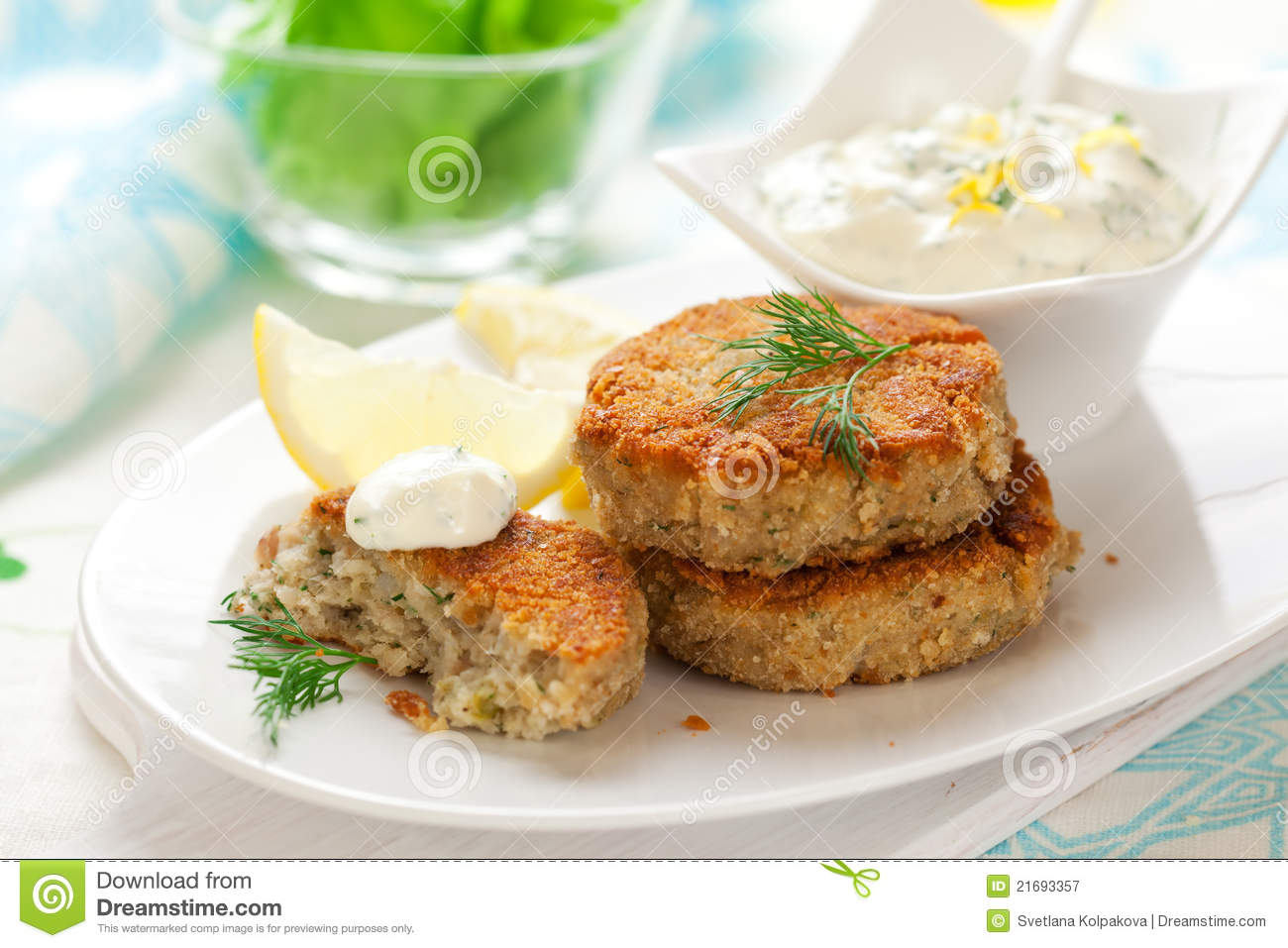 Cod Fish Cakes Royalty Free Stock Photography - Image: 21693357