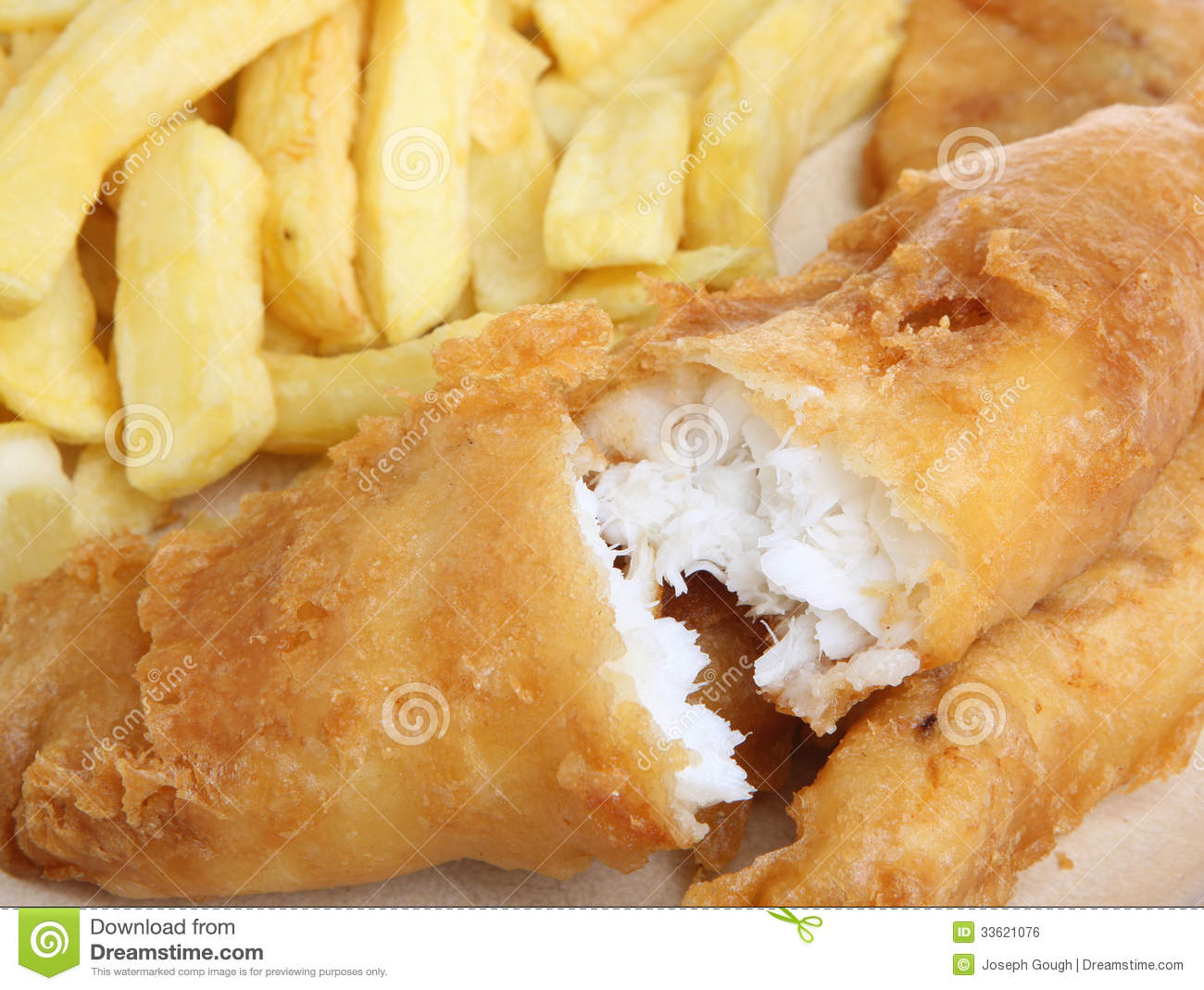 Cod fish chips stock photo image of closeup chips for Fish batter for cod