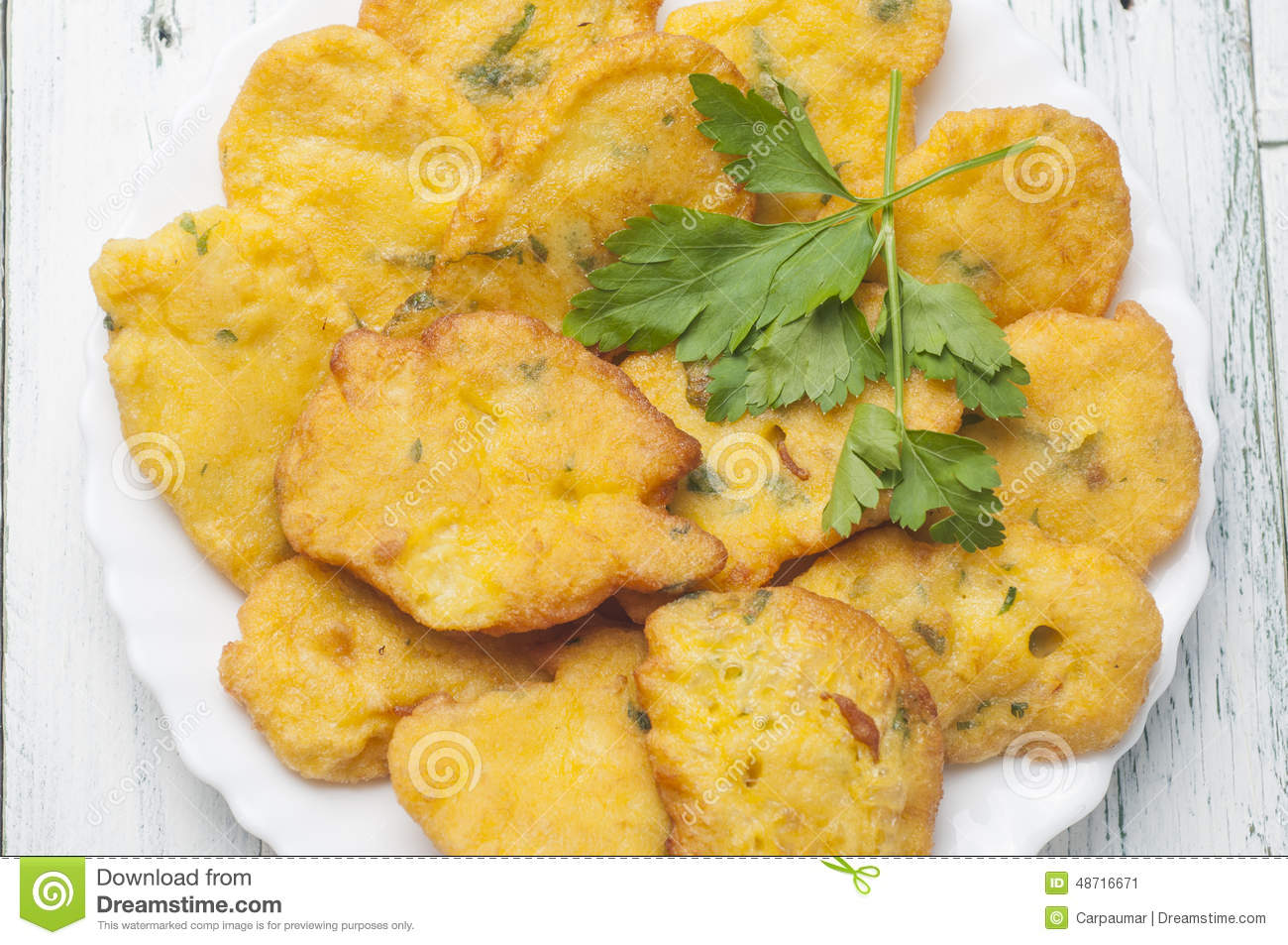 Cod fritters recipe typical Andalusia Spain.