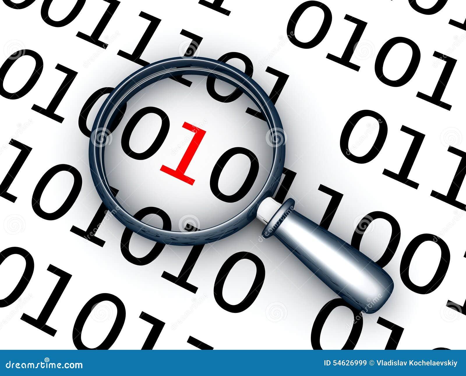 Code binaire et lentille