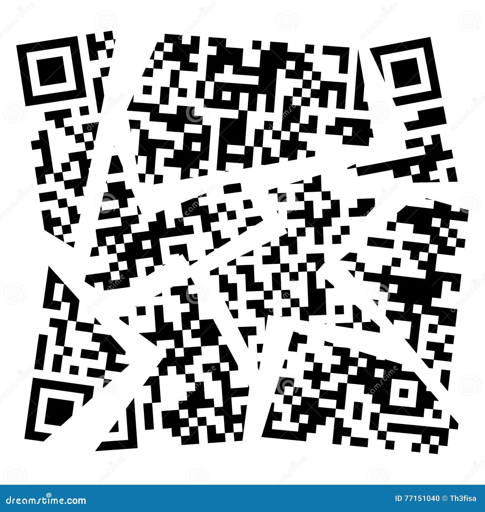 Code déchiffré par vecteur de qr