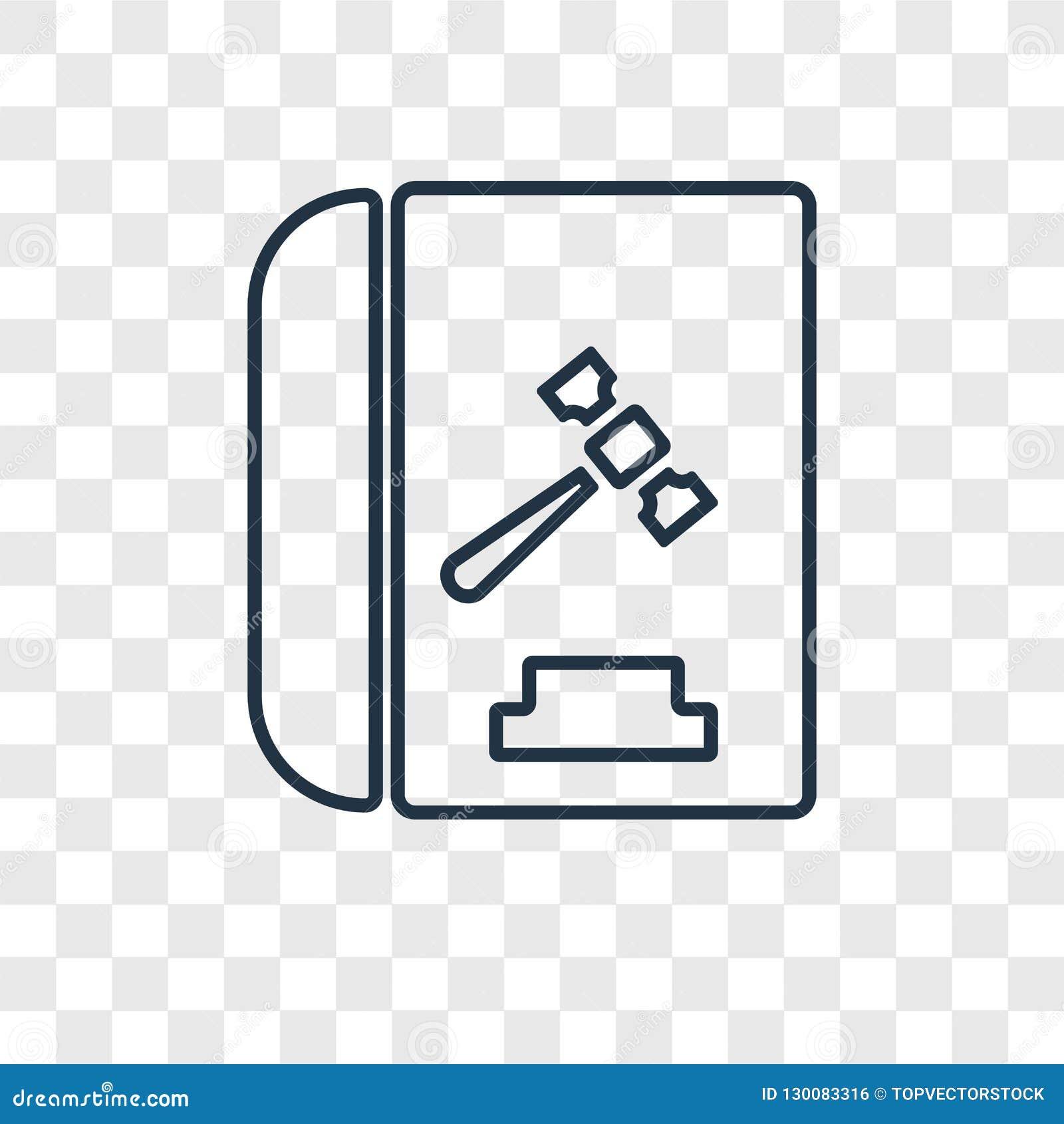 Code de conduite l icône linéaire de vecteur de concept d isolement sur le transpare
