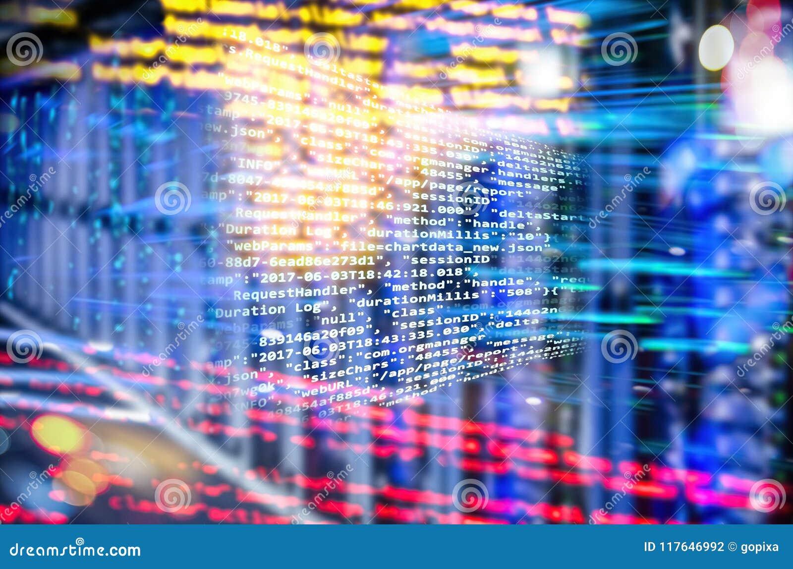 Code de programme avec le fond abstrait de technologie