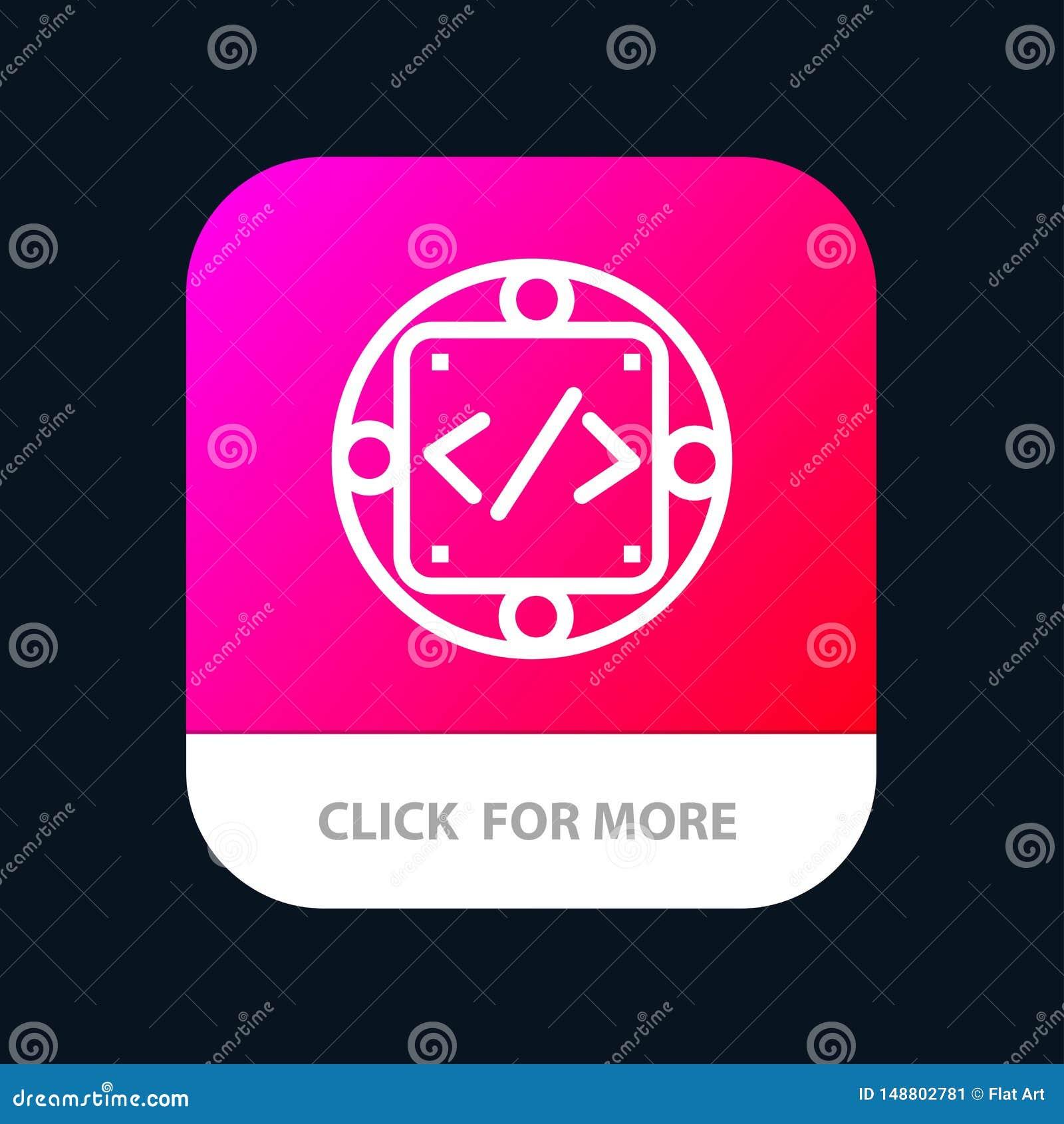 Code, Gewohnheit, Durchführung, Management, Produkt mobiler App-Knopf Android und IOS-Linie Version