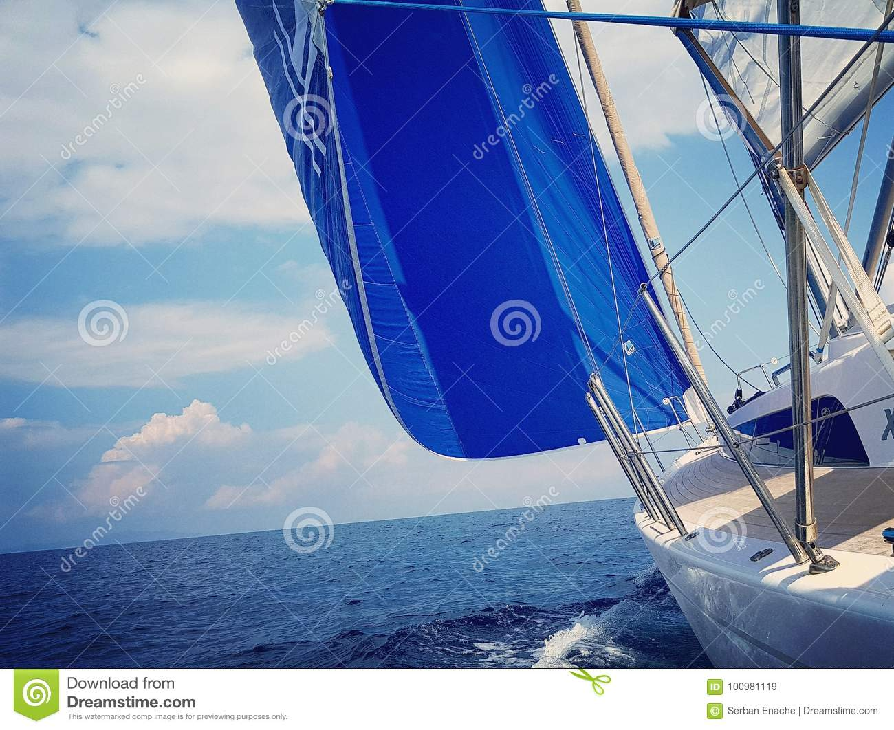Code Zero sail stock image  Image of code, nature
