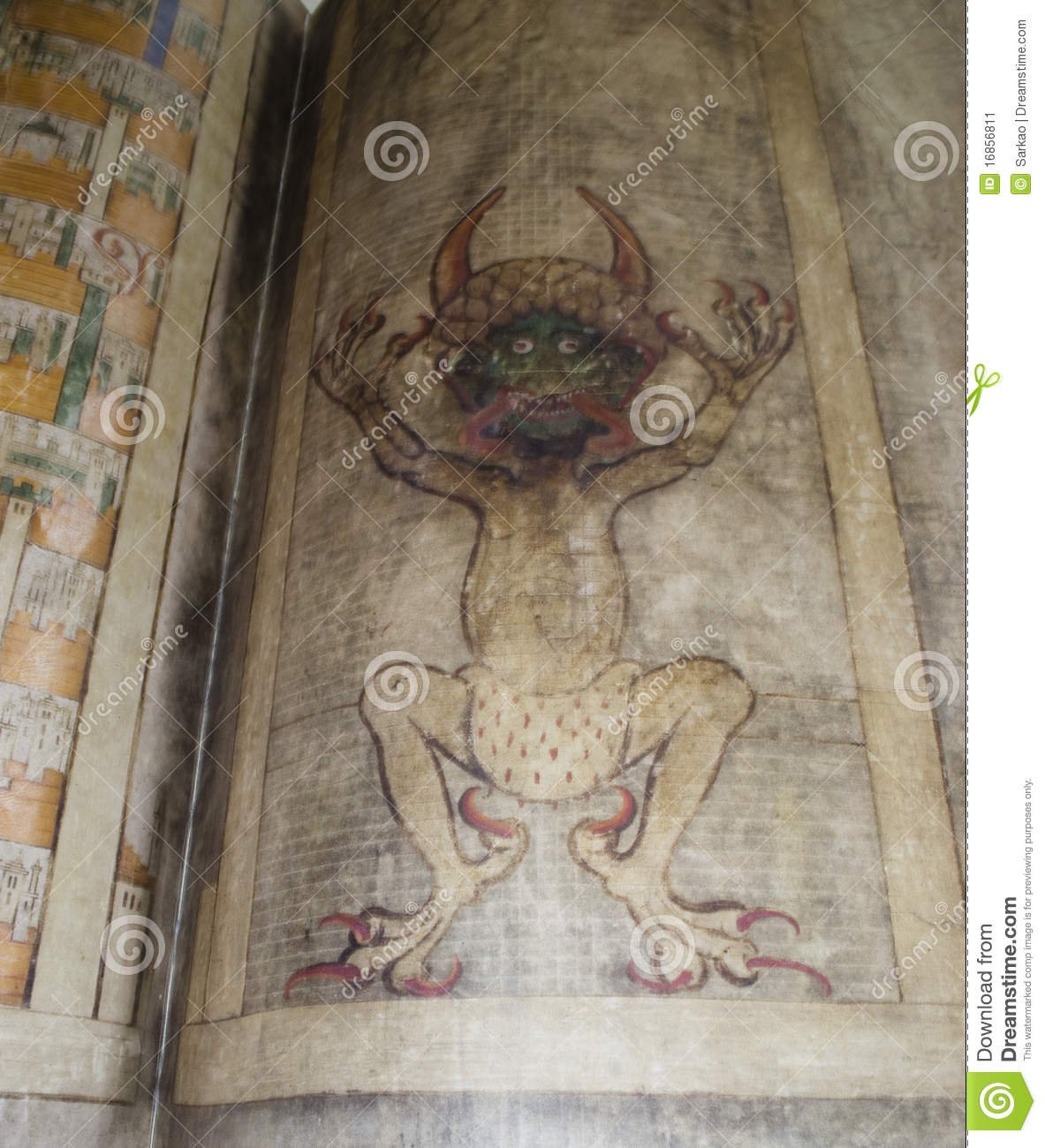 Lucifer Bible: Codex Gigas Also Called Devil's Bible Editorial Photo