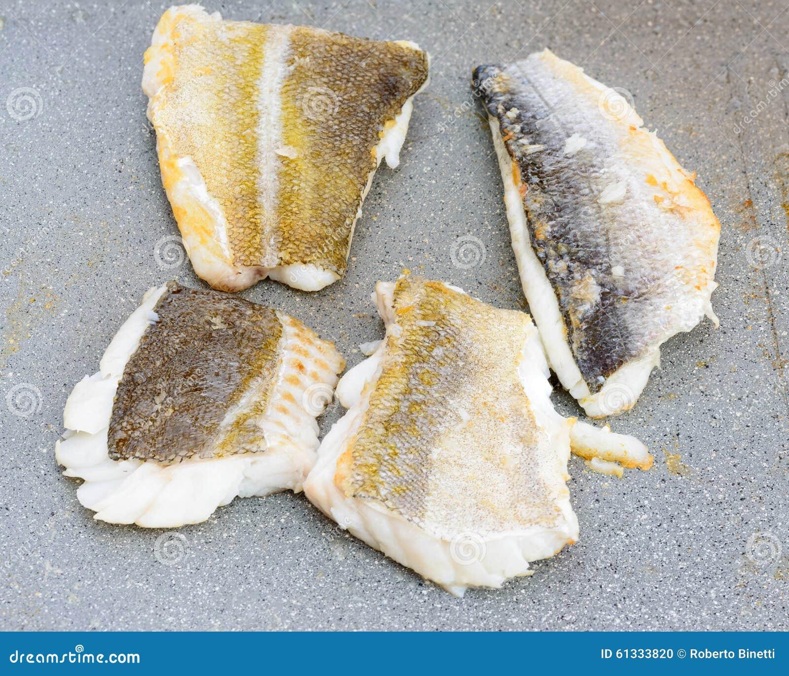 Codfish- och för havsbraxen makro