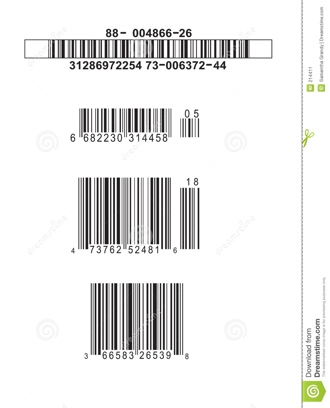 Download Codici a barre falsi illustrazione di stock. Illustrazione di numero - 214411