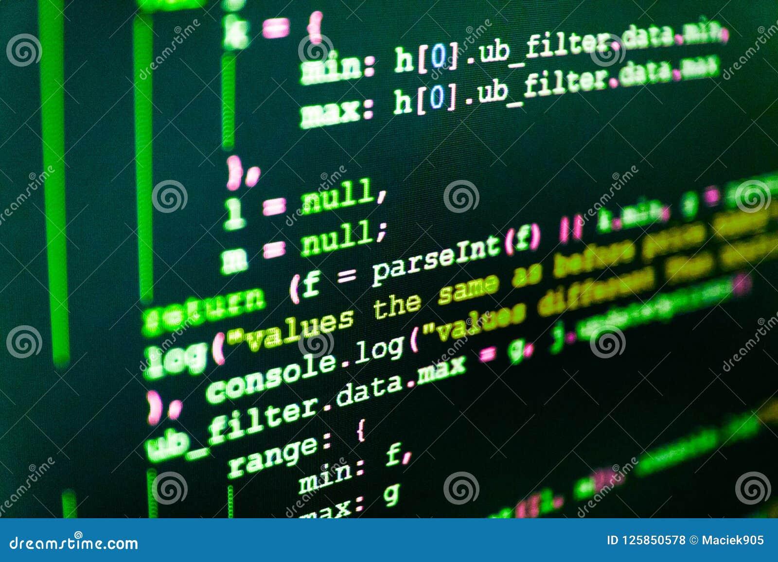 Codificación de las TIC en la pantalla de monitor Programación de Python