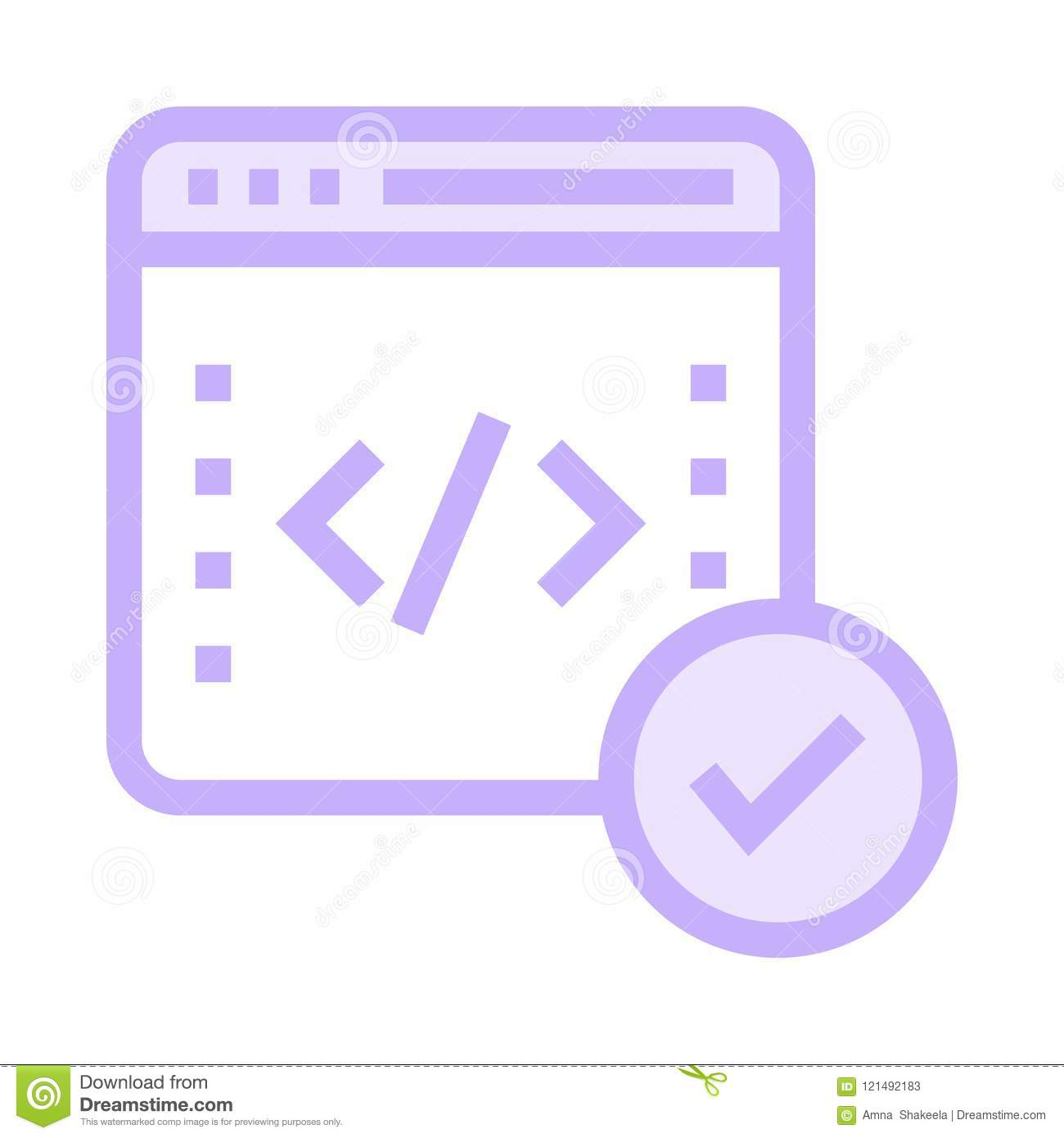 Coding color line icon stock illustration  Illustration of browser