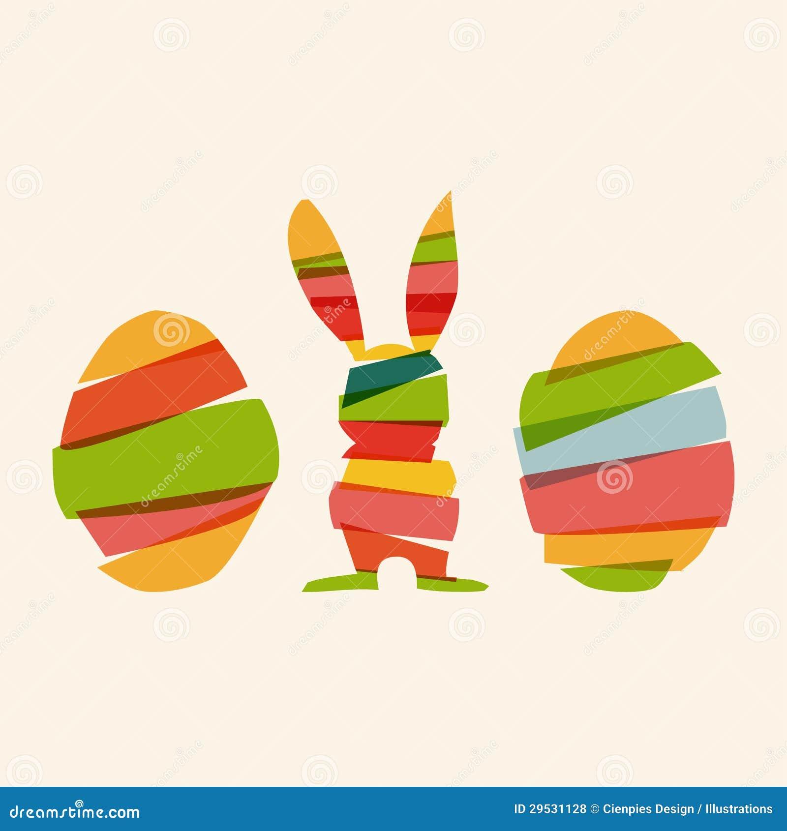 Coelhinho da Páscoa e ovos da diversidade
