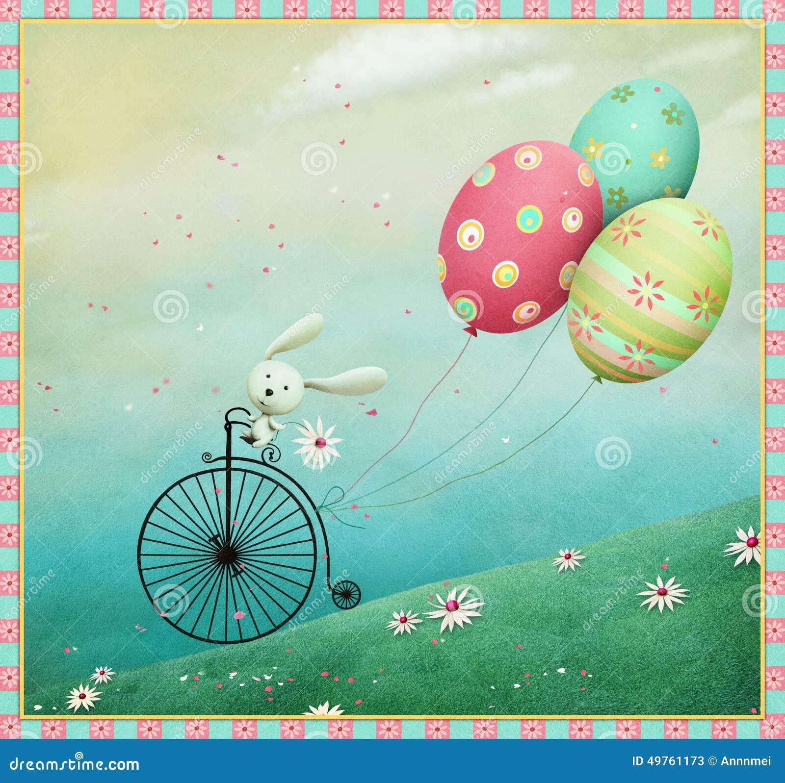 Coelho e bicicleta