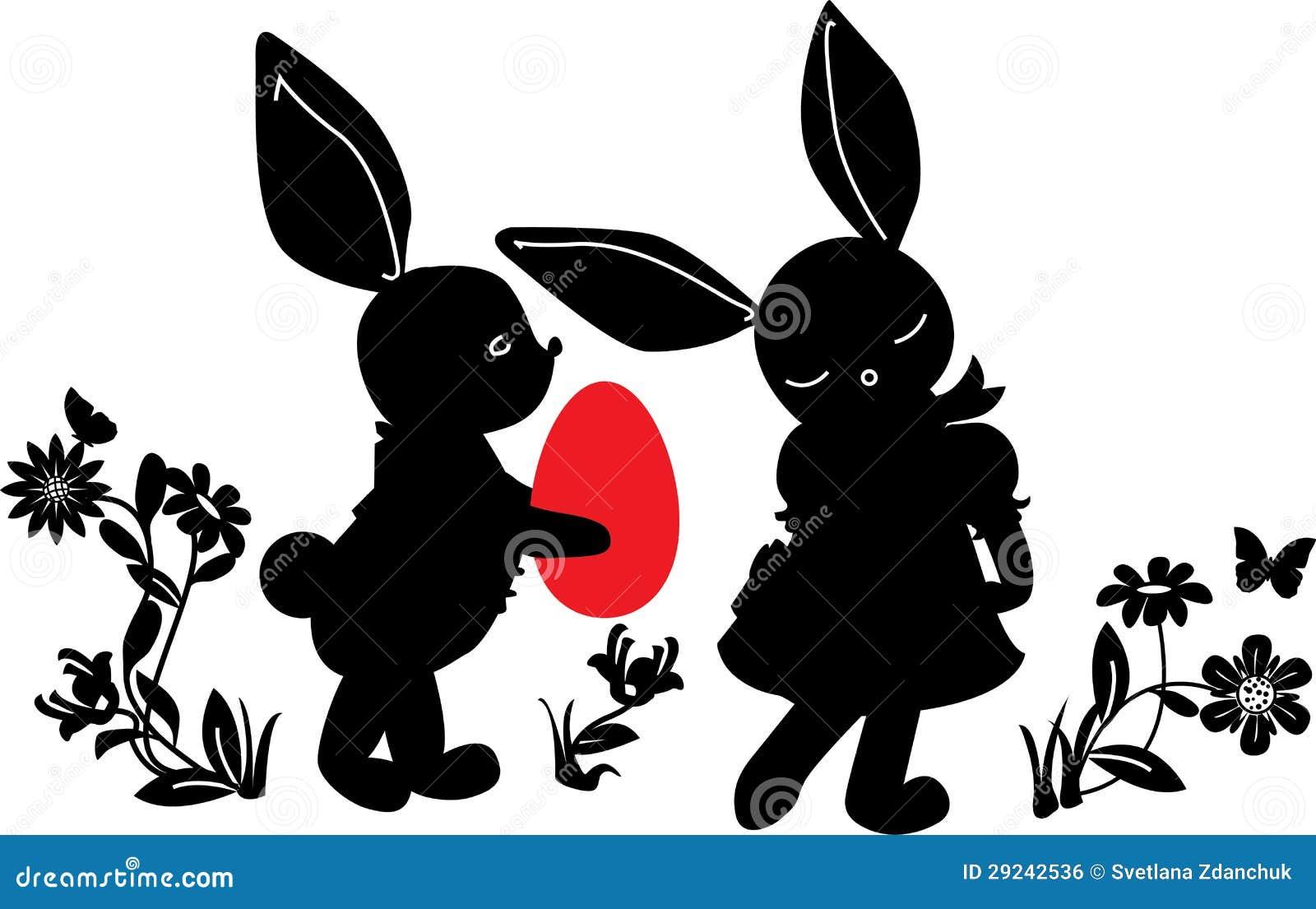 Download Coelhos Com Presente Do Ovo Ilustração do Vetor - Ilustração de revestimento, animal: 29242536