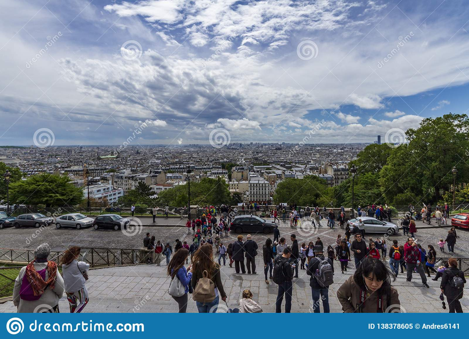 Coeur巴黎sacre视图