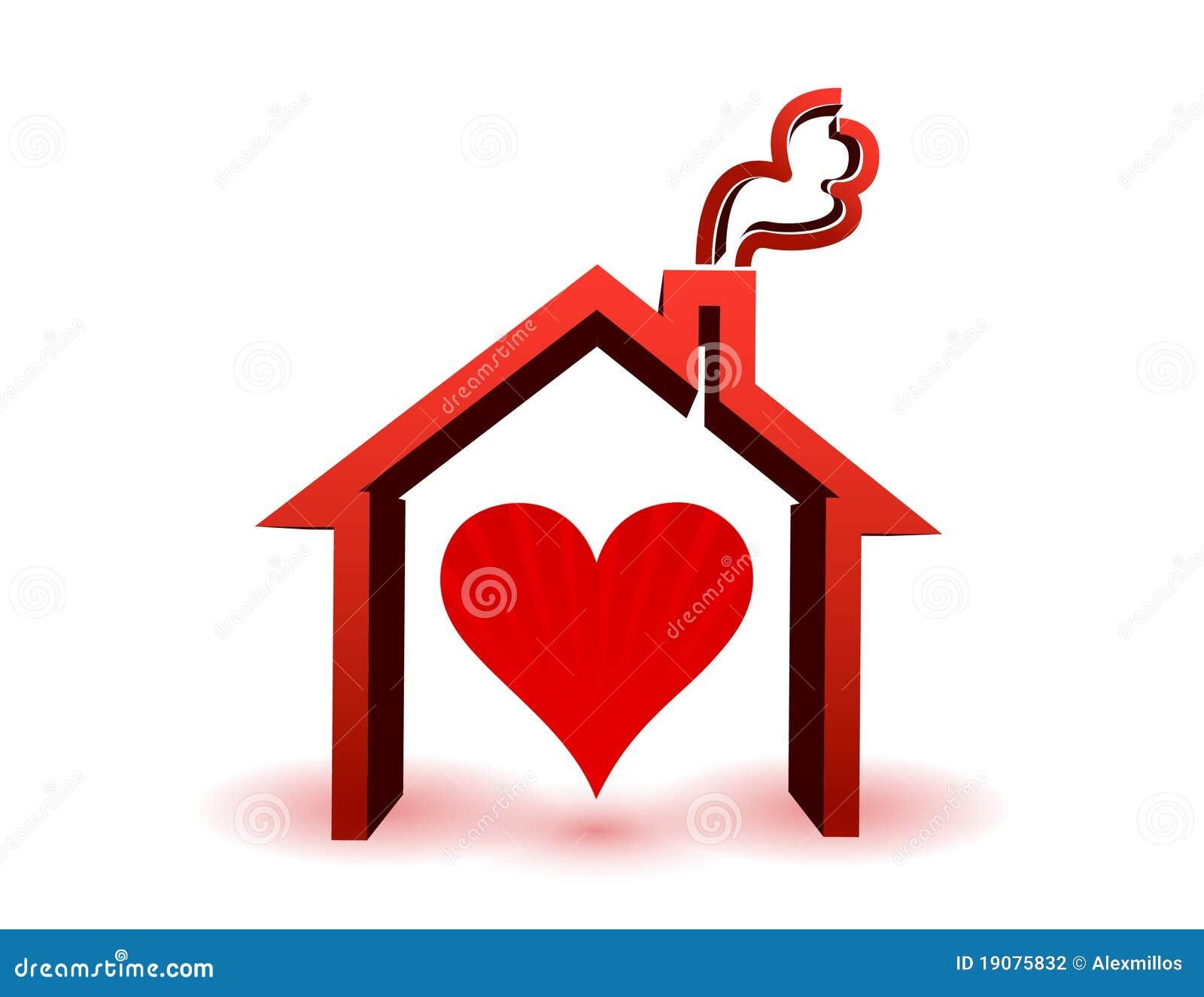 Coeur à l intérieur dans la maison