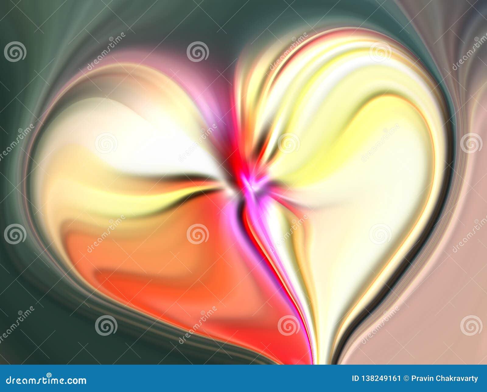 Coeur abstrait de valentine avec le fond texturisé