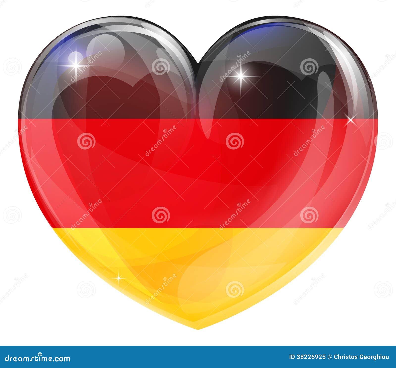 Coeur allemand d 39 amour de drapeau photo libre de droits - Image de coeur damour ...