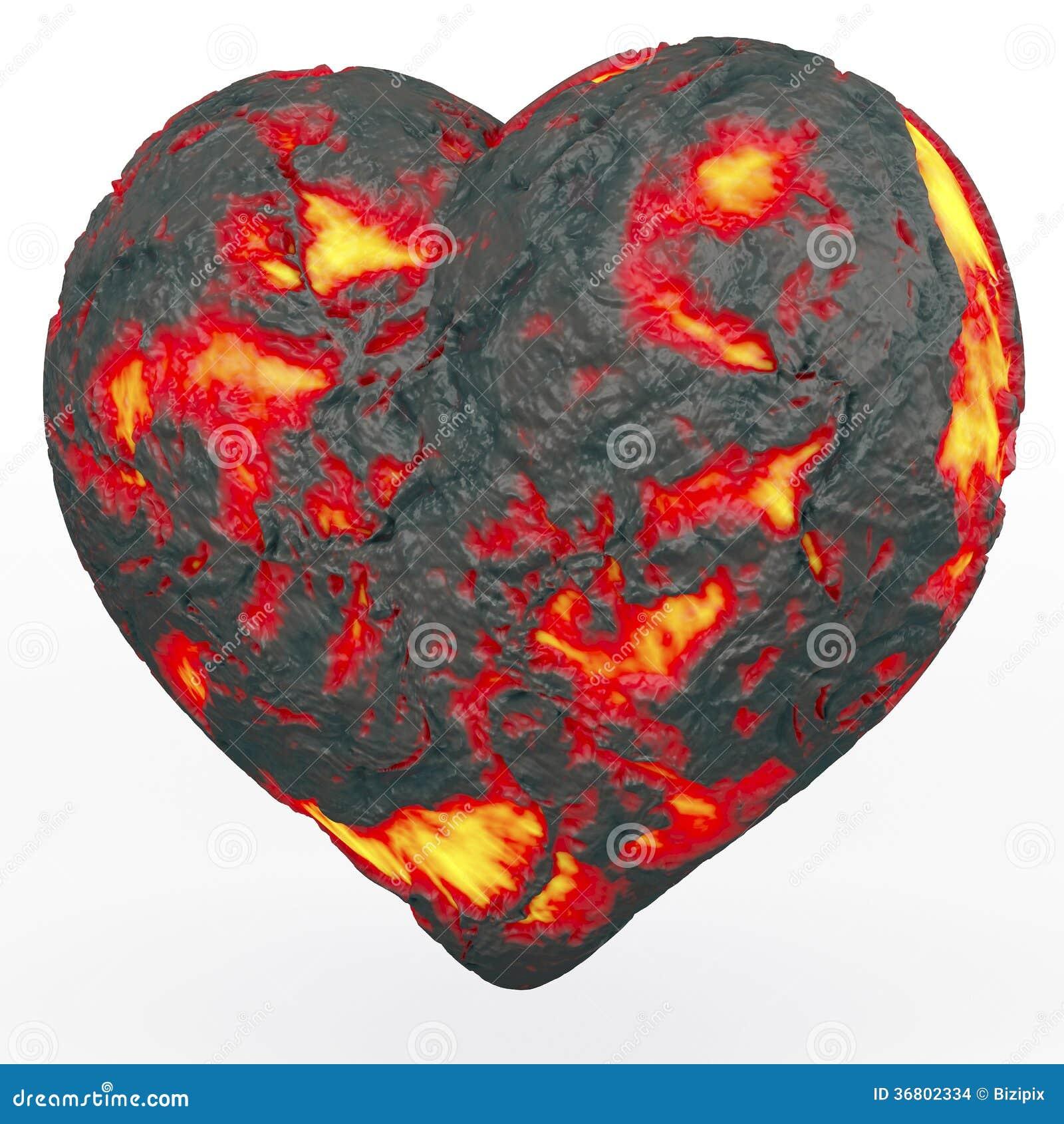 coeur ardent de lave illustration stock illustration du amour 36802334. Black Bedroom Furniture Sets. Home Design Ideas